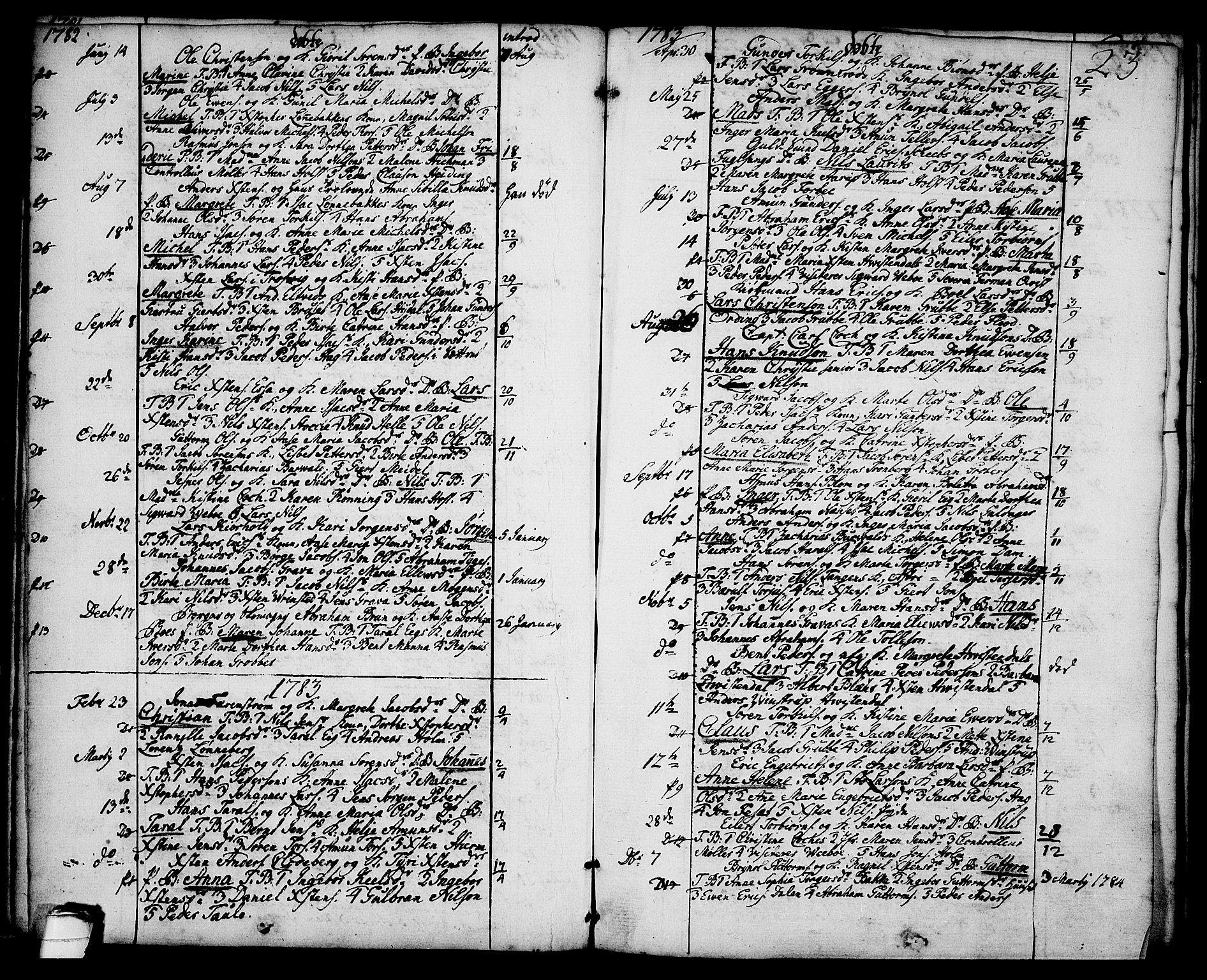 SAKO, Brevik kirkebøker, F/Fa/L0003: Ministerialbok nr. 3, 1764-1814, s. 23
