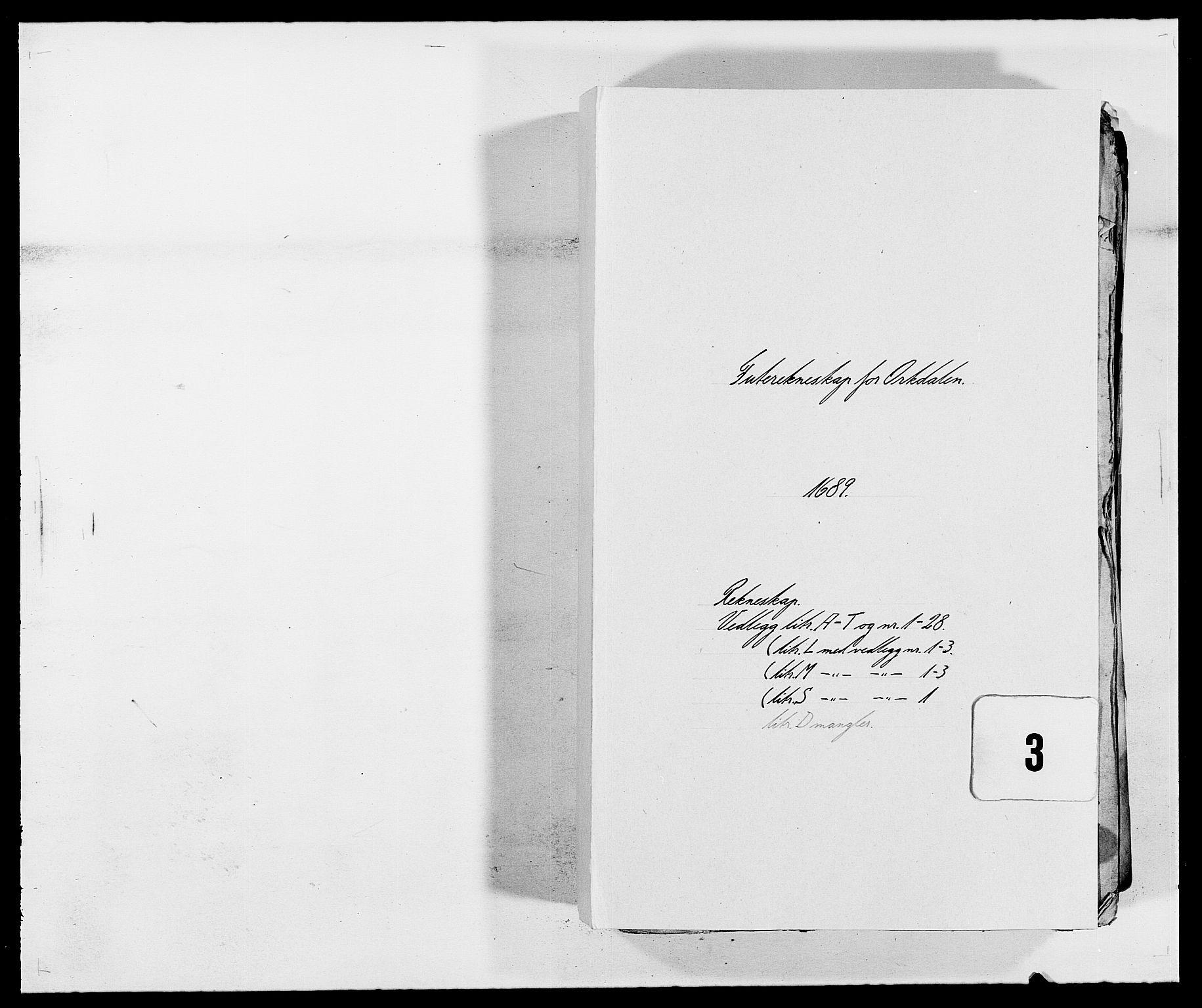 RA, Rentekammeret inntil 1814, Reviderte regnskaper, Fogderegnskap, R58/L3936: Fogderegnskap Orkdal, 1689-1690, s. 1