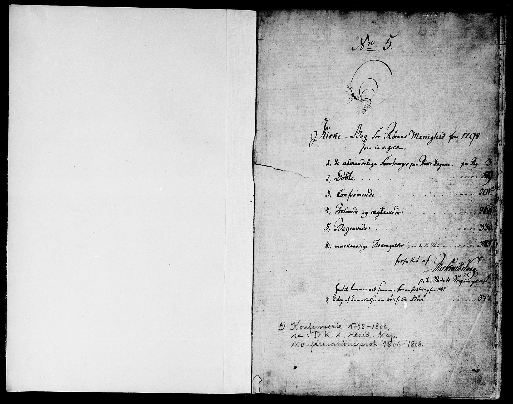 SAT, Ministerialprotokoller, klokkerbøker og fødselsregistre - Sør-Trøndelag, 681/L0927: Ministerialbok nr. 681A05, 1798-1808, s. 0-1
