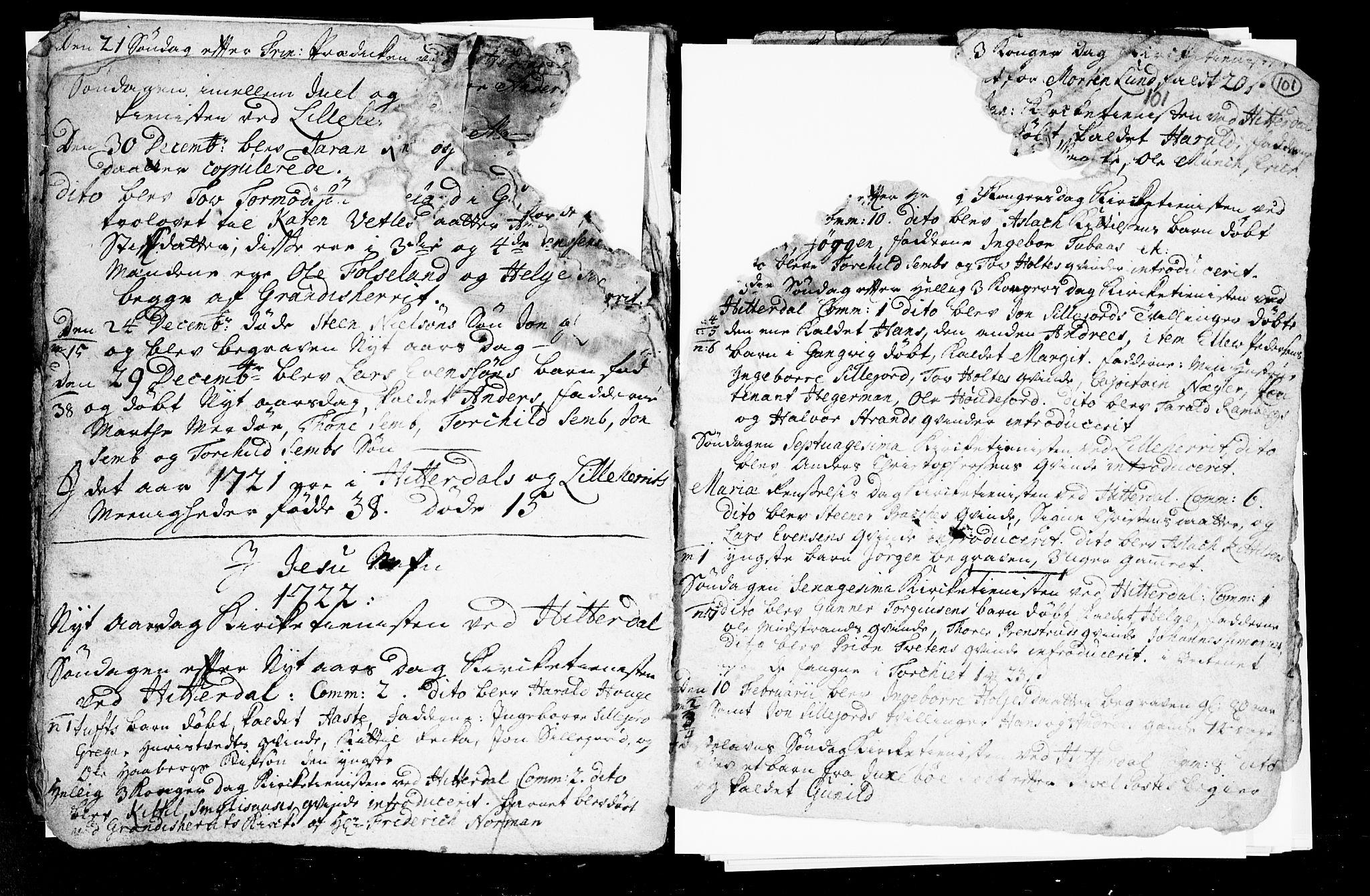 SAKO, Heddal kirkebøker, F/Fa/L0002: Ministerialbok nr. I 2, 1699-1722, s. 101