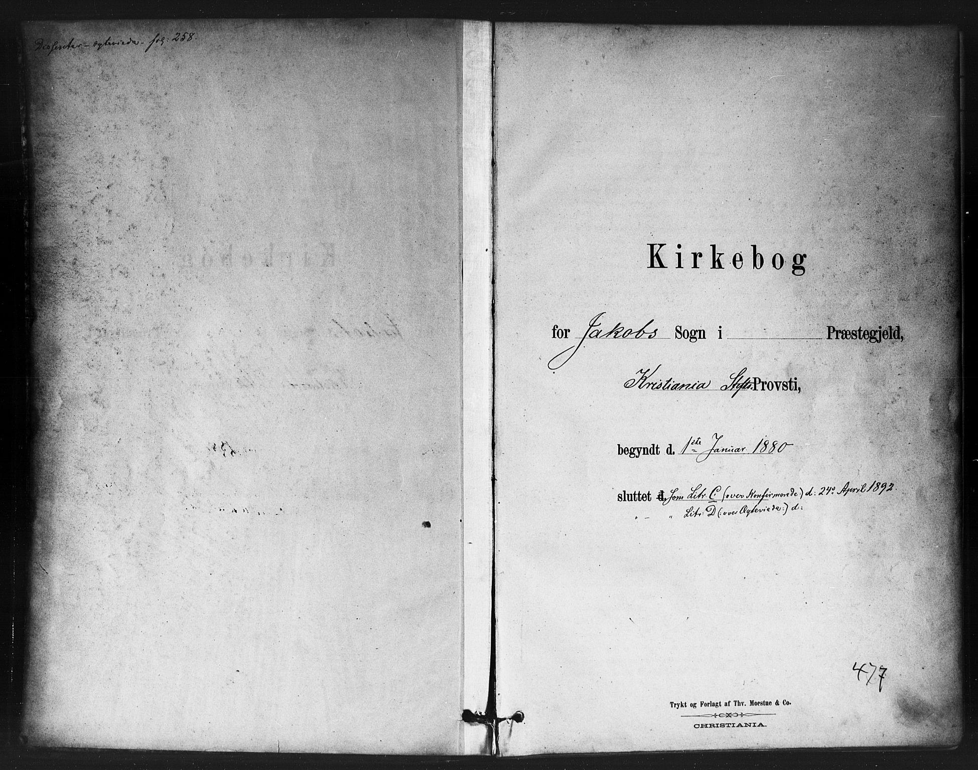 SAO, Jakob prestekontor Kirkebøker, F/Fa/L0004: Ministerialbok nr. 4, 1880-1894