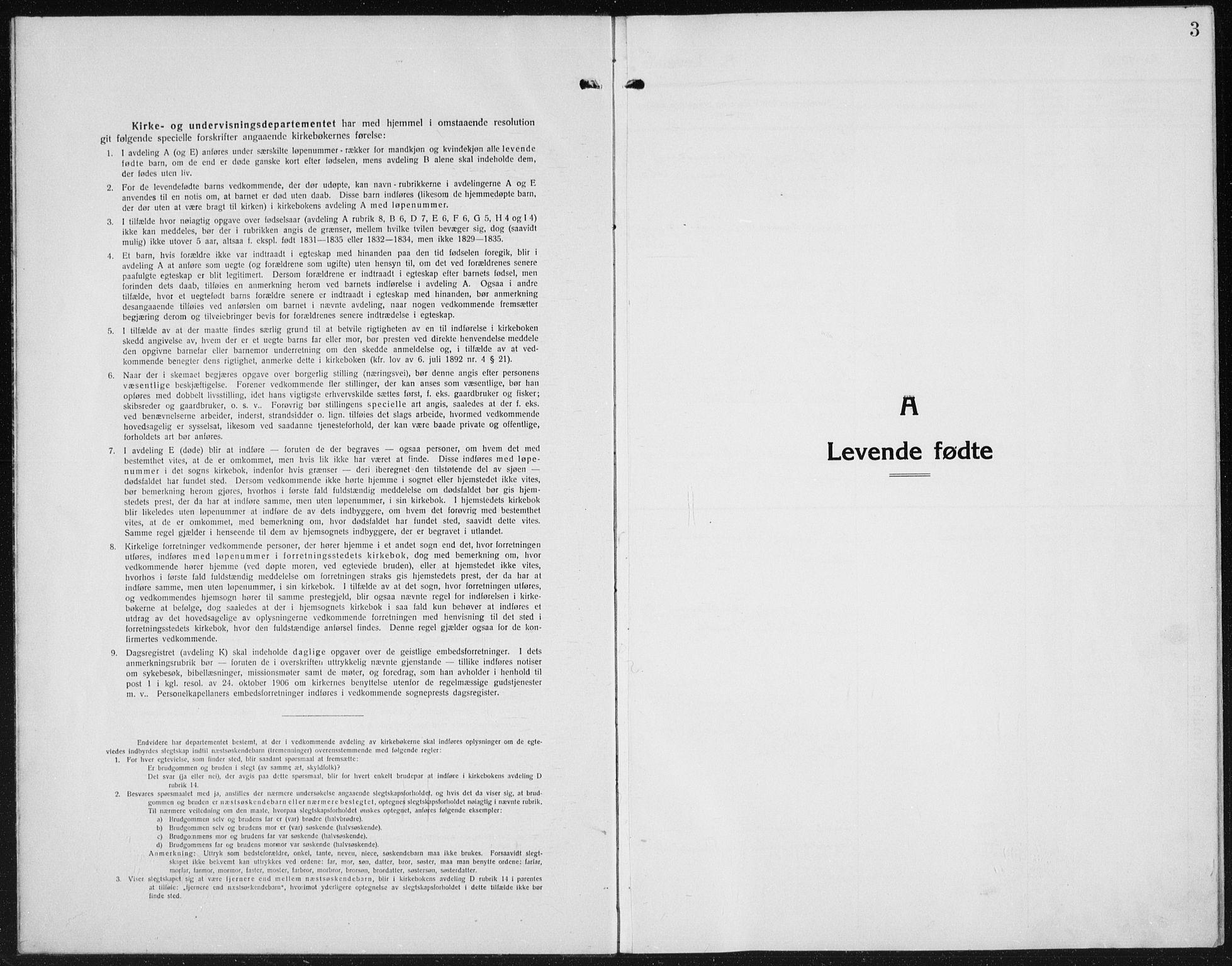 SAH, Kolbu prestekontor, Klokkerbok nr. 6, 1916-1934, s. 3