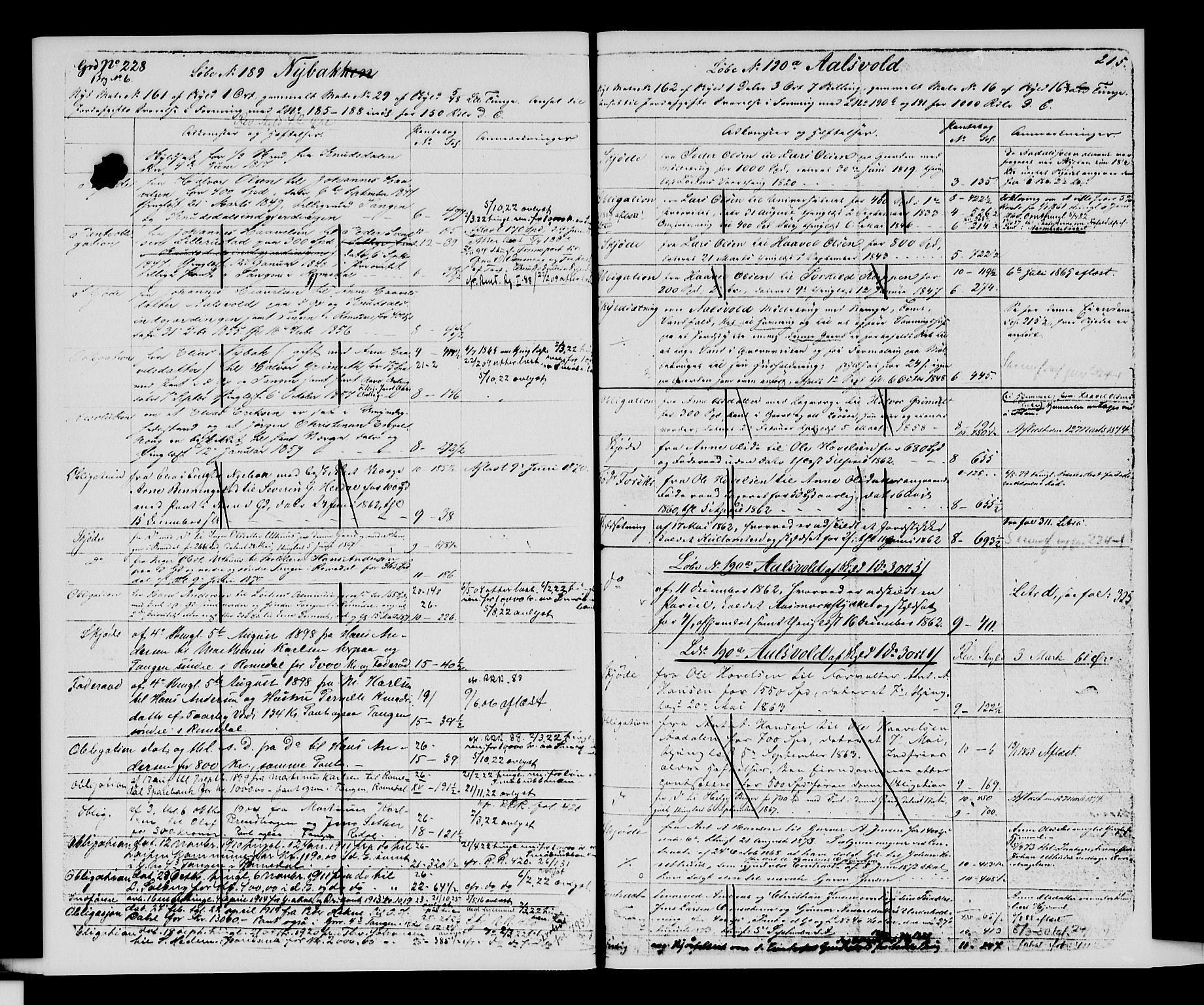 SAH, Sør-Hedmark sorenskriveri, H/Ha/Hac/Hacc/L0001: Panteregister nr. 3.1, 1855-1943, s. 215