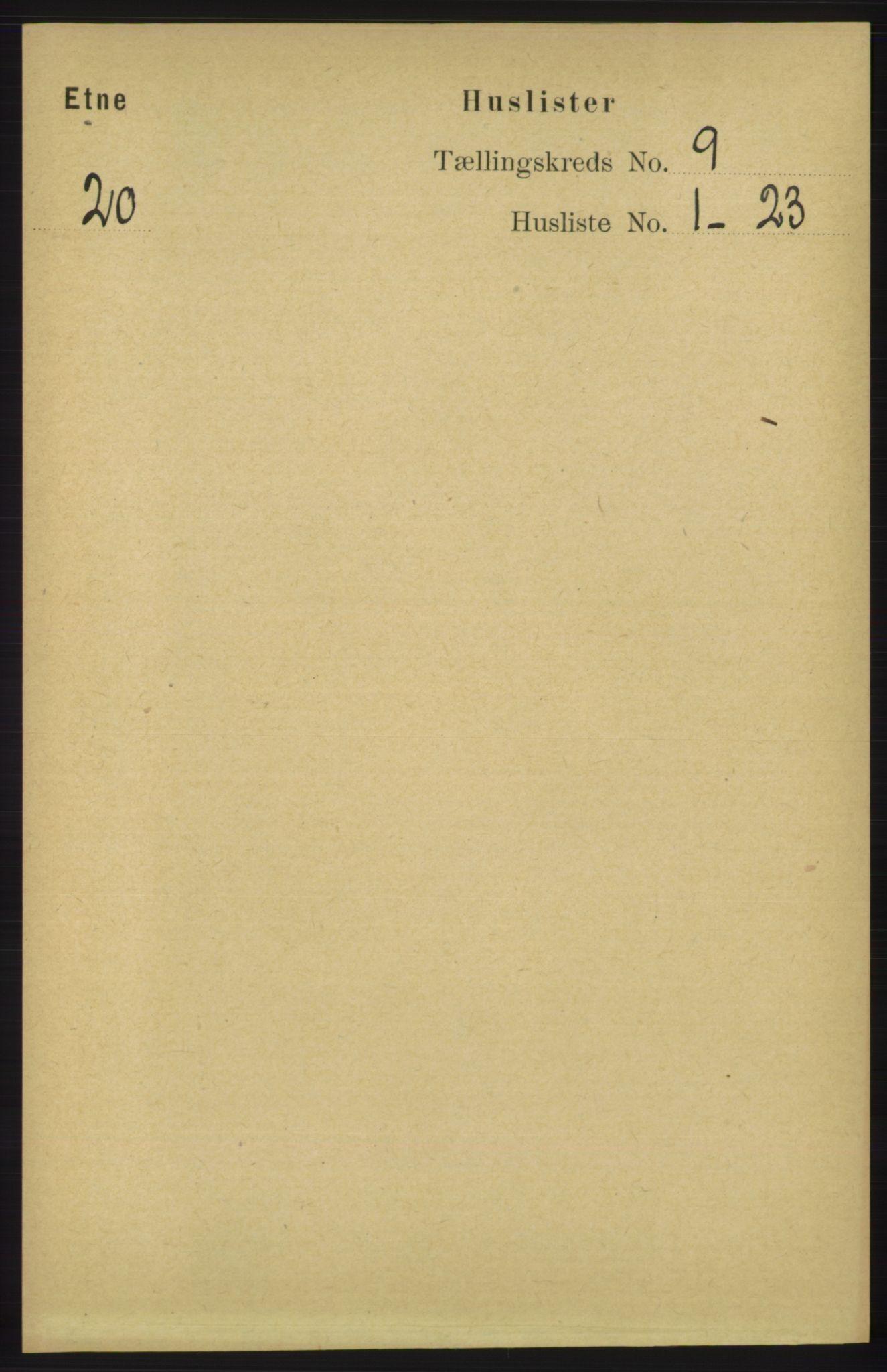 RA, Folketelling 1891 for 1211 Etne herred, 1891, s. 1689