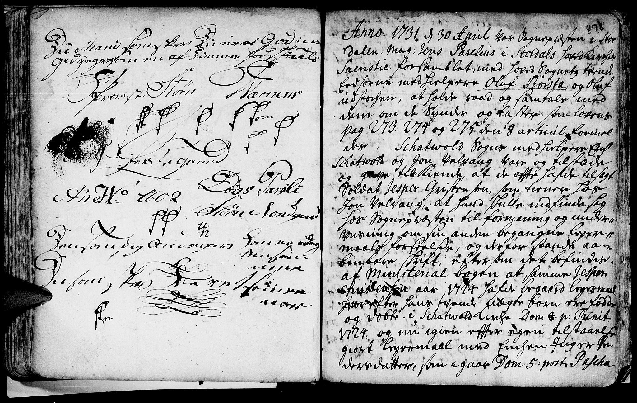 SAT, Ministerialprotokoller, klokkerbøker og fødselsregistre - Nord-Trøndelag, 709/L0055: Ministerialbok nr. 709A03, 1730-1739, s. 877-878