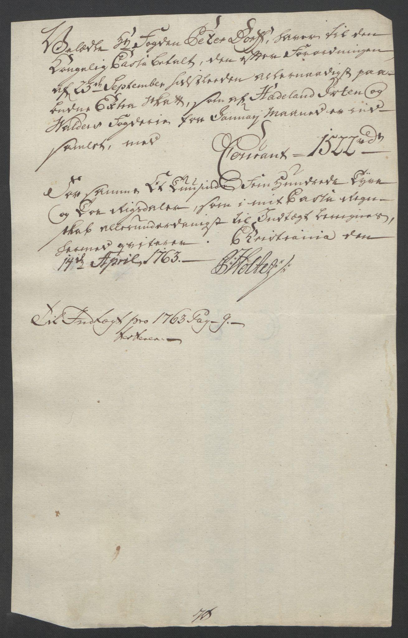 RA, Rentekammeret inntil 1814, Reviderte regnskaper, Fogderegnskap, R19/L1399: Fogderegnskap Toten, Hadeland og Vardal, 1762-1783, s. 35