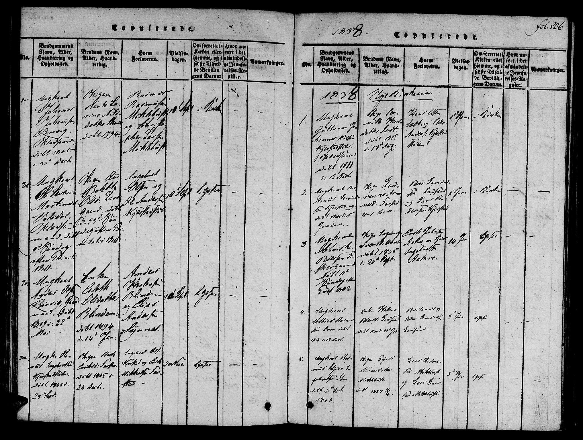 SAT, Ministerialprotokoller, klokkerbøker og fødselsregistre - Møre og Romsdal, 536/L0495: Ministerialbok nr. 536A04, 1818-1847, s. 206
