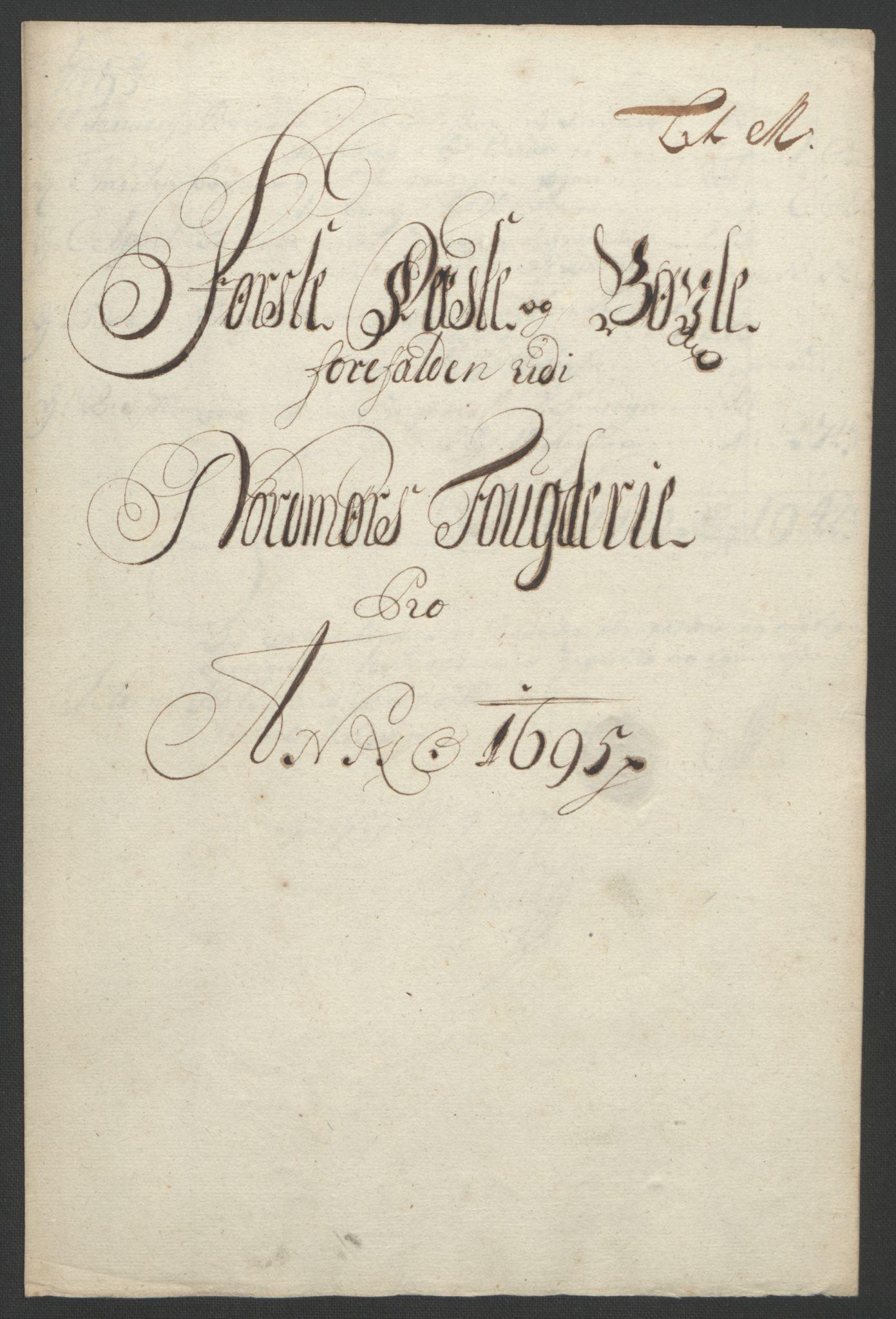 RA, Rentekammeret inntil 1814, Reviderte regnskaper, Fogderegnskap, R56/L3736: Fogderegnskap Nordmøre, 1694-1696, s. 287