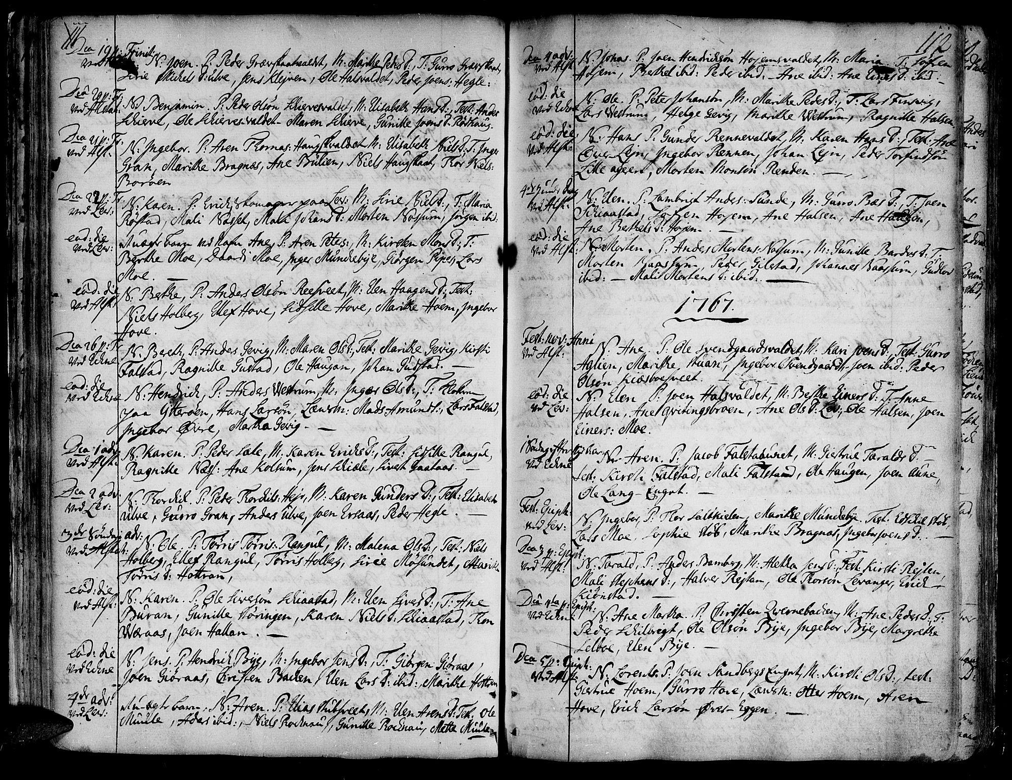 SAT, Ministerialprotokoller, klokkerbøker og fødselsregistre - Nord-Trøndelag, 717/L0141: Ministerialbok nr. 717A01, 1747-1803, s. 111-112