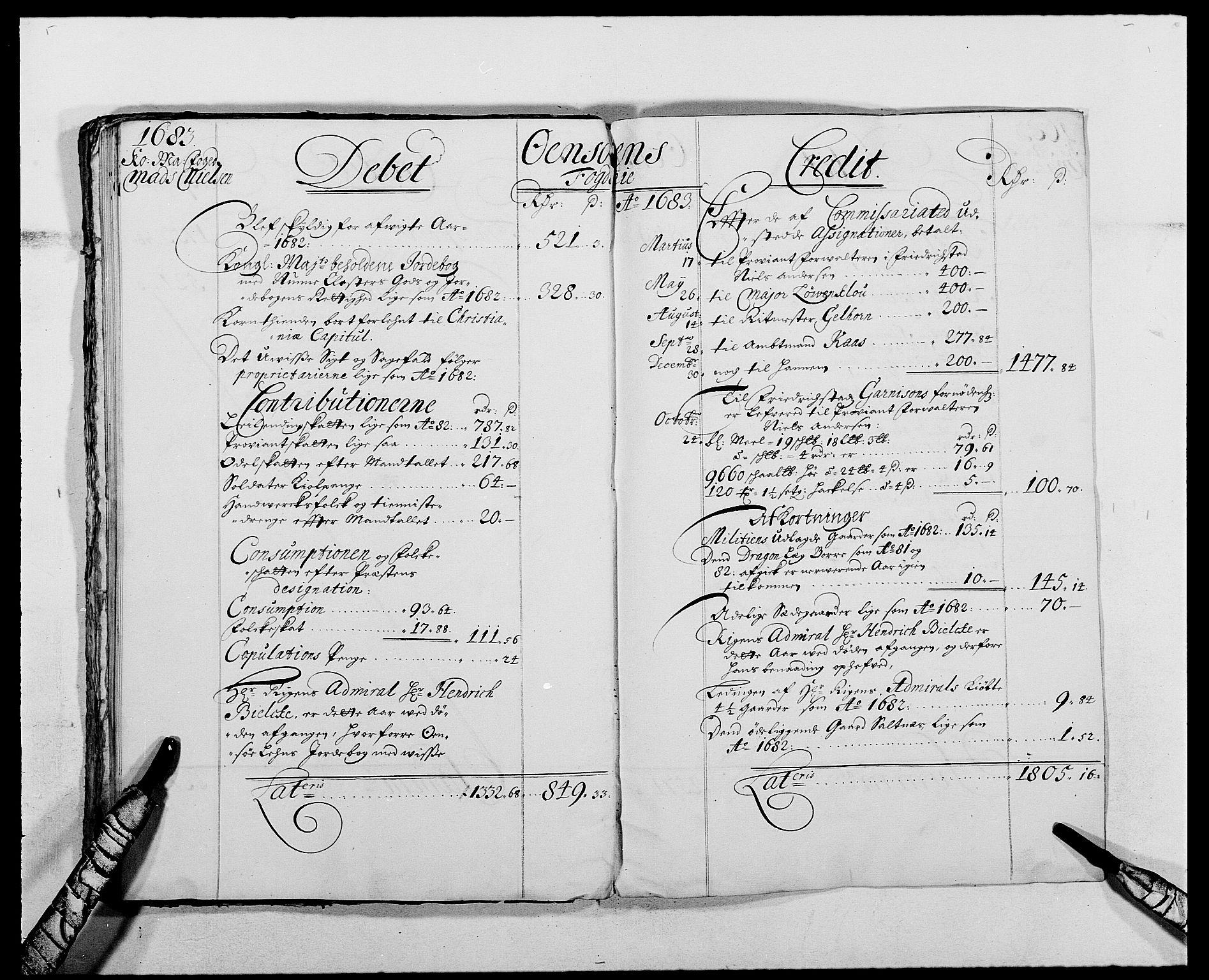 RA, Rentekammeret inntil 1814, Reviderte regnskaper, Fogderegnskap, R03/L0113: Fogderegnskap Onsøy, Tune, Veme og Åbygge fogderi, 1681-1683, s. 38