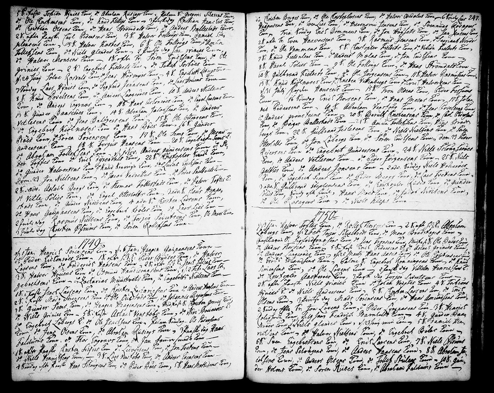 SAKO, Gjerpen kirkebøker, F/Fa/L0002: Ministerialbok nr. 2, 1747-1795, s. 247