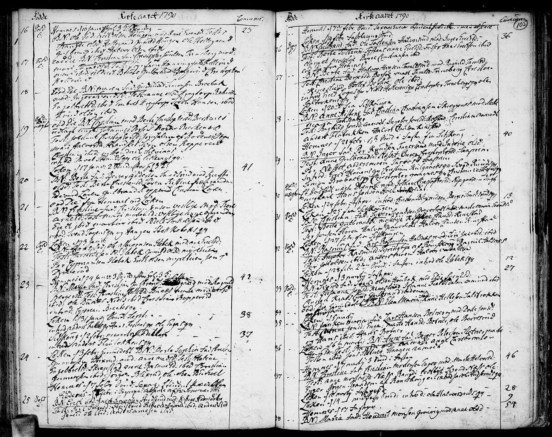 SAO, Høland prestekontor Kirkebøker, F/Fa/L0005: Ministerialbok nr. I 5, 1780-1793, s. 105