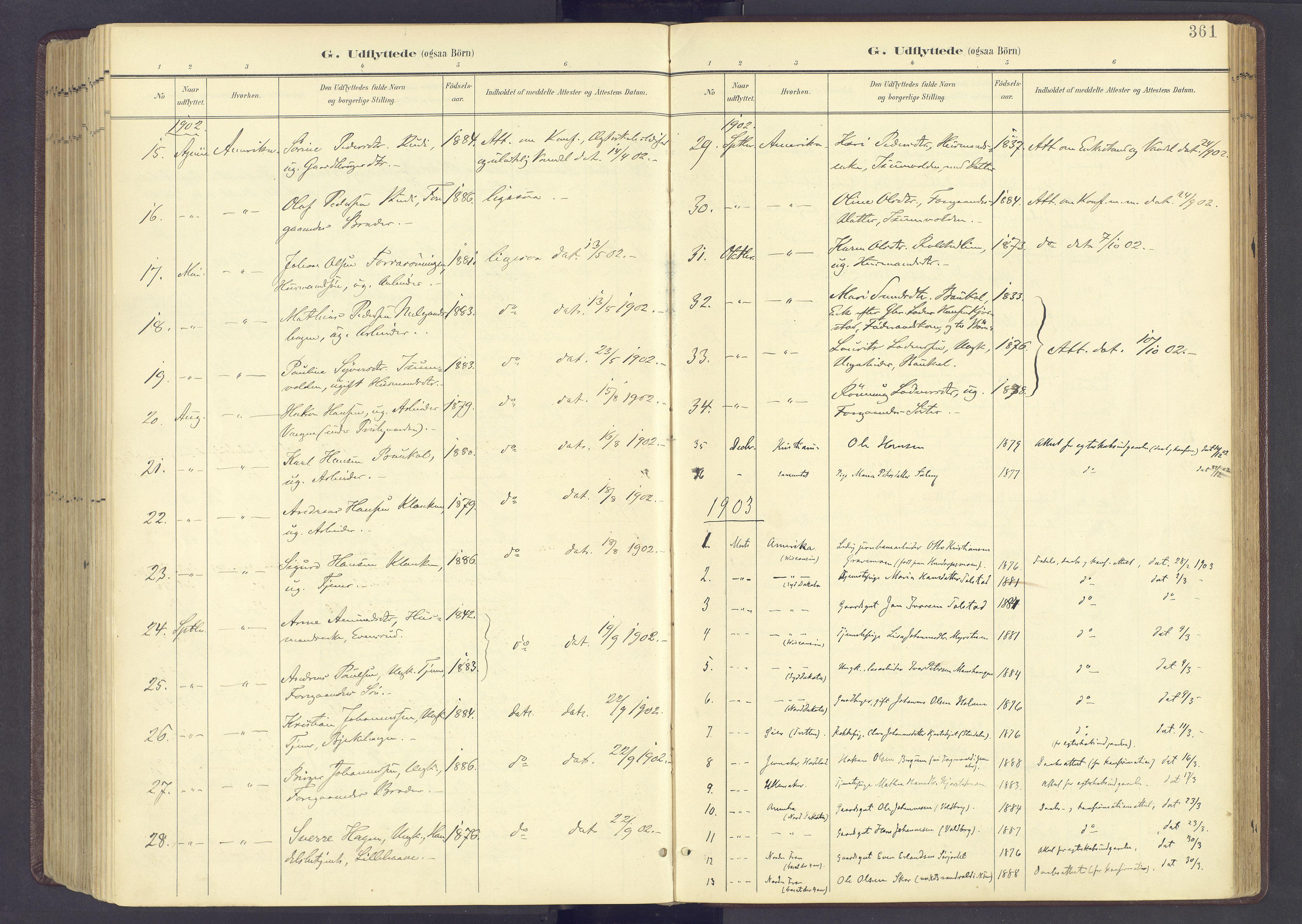 SAH, Sør-Fron prestekontor, H/Ha/Haa/L0004: Ministerialbok nr. 4, 1898-1919, s. 361