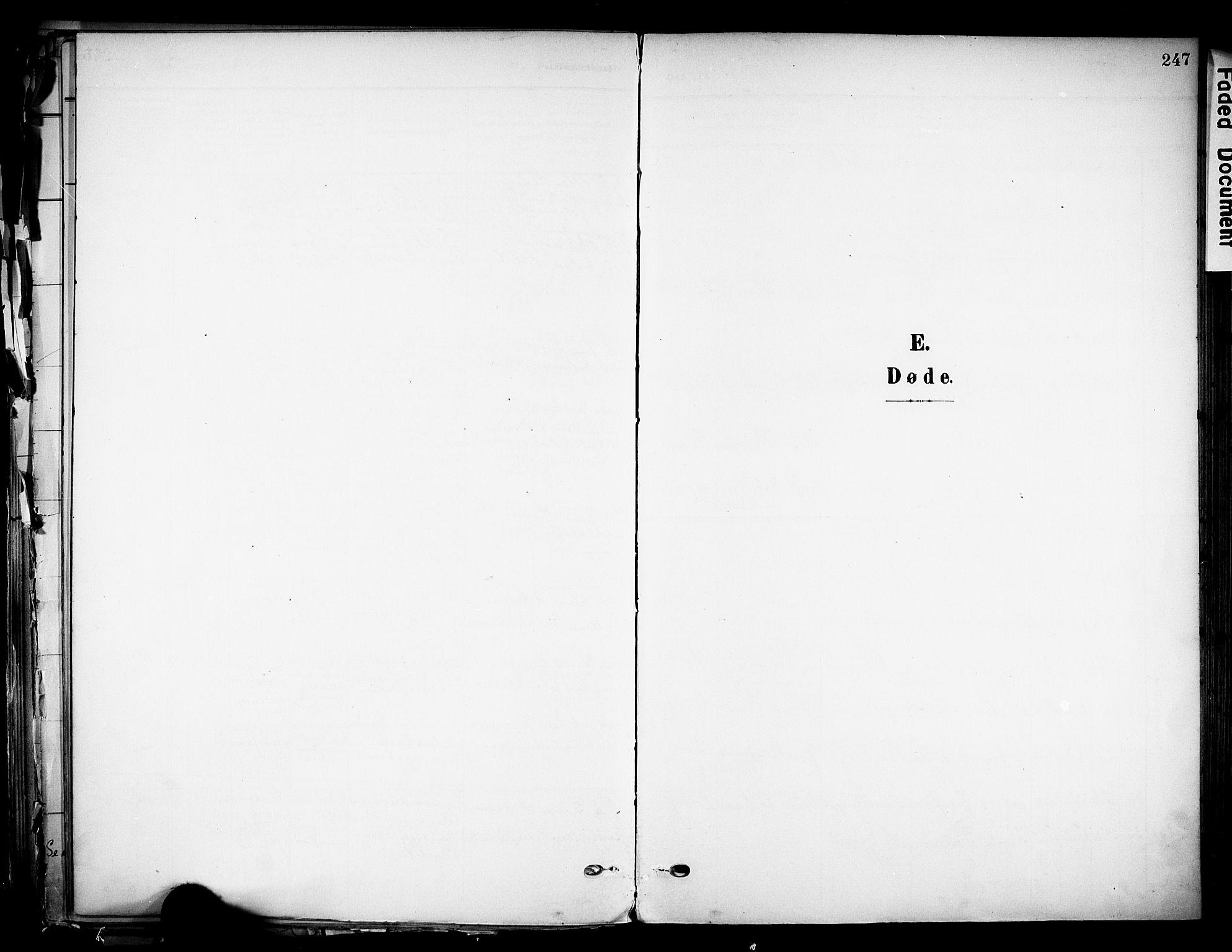 SAKO, Solum kirkebøker, F/Fa/L0011: Ministerialbok nr. I 11, 1898-1909, s. 247
