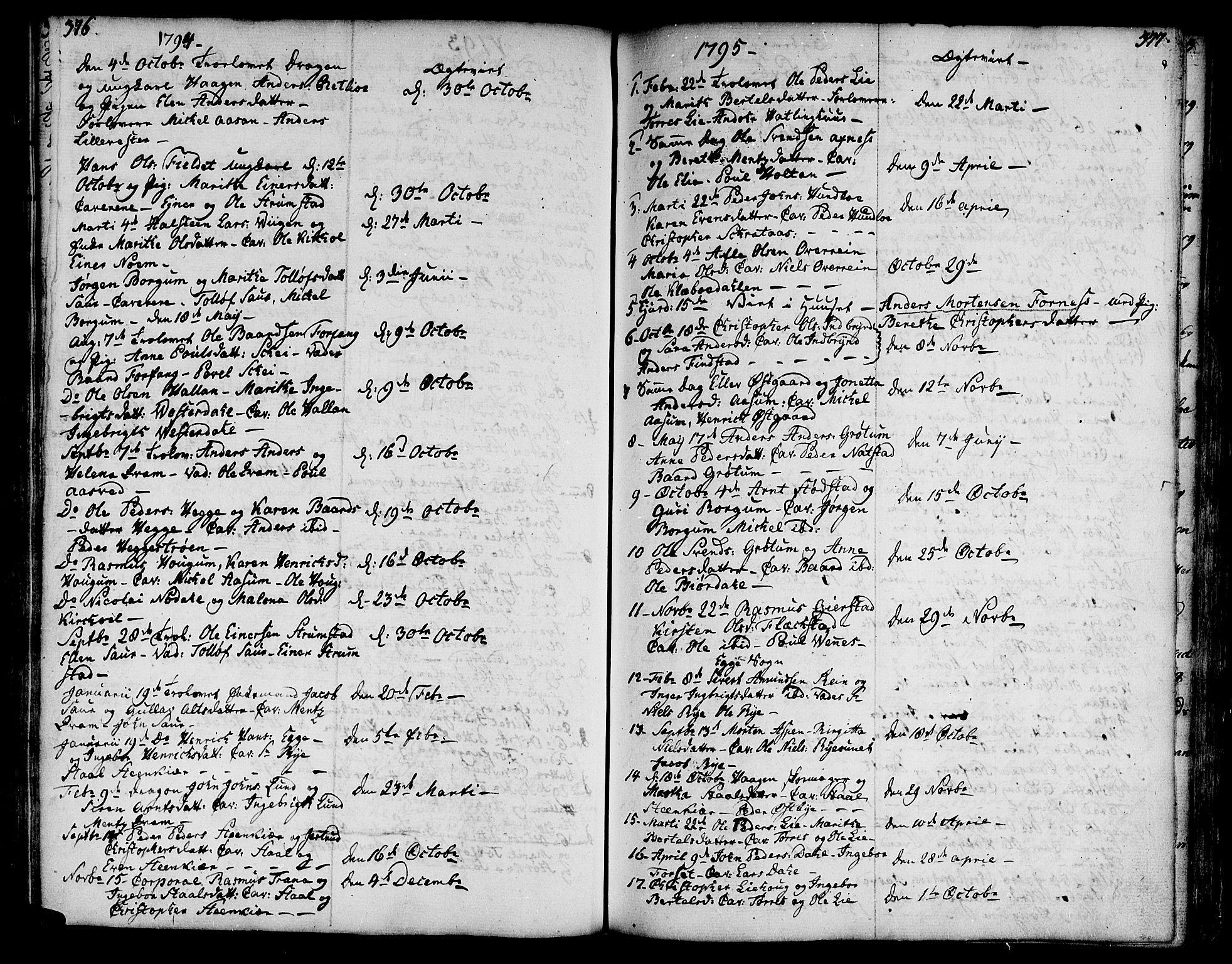 SAT, Ministerialprotokoller, klokkerbøker og fødselsregistre - Nord-Trøndelag, 746/L0440: Ministerialbok nr. 746A02, 1760-1815, s. 376-377