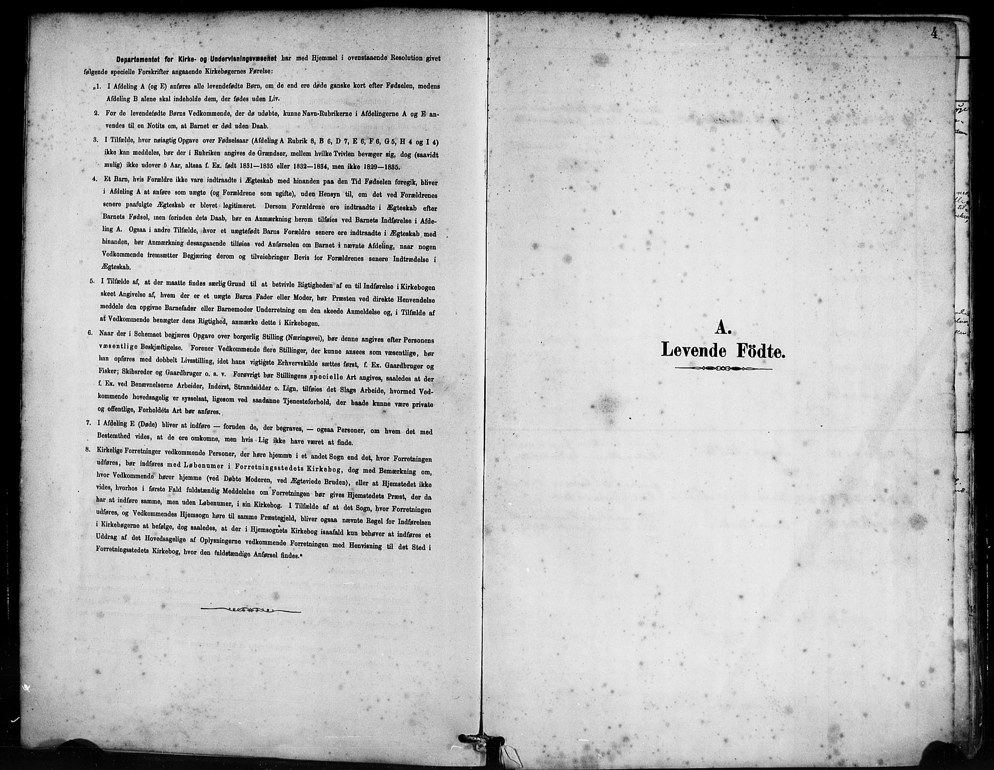 SAB, Bremanger Sokneprestembete, H/Haa: Ministerialbok nr. B 1, 1884-1895, s. 4