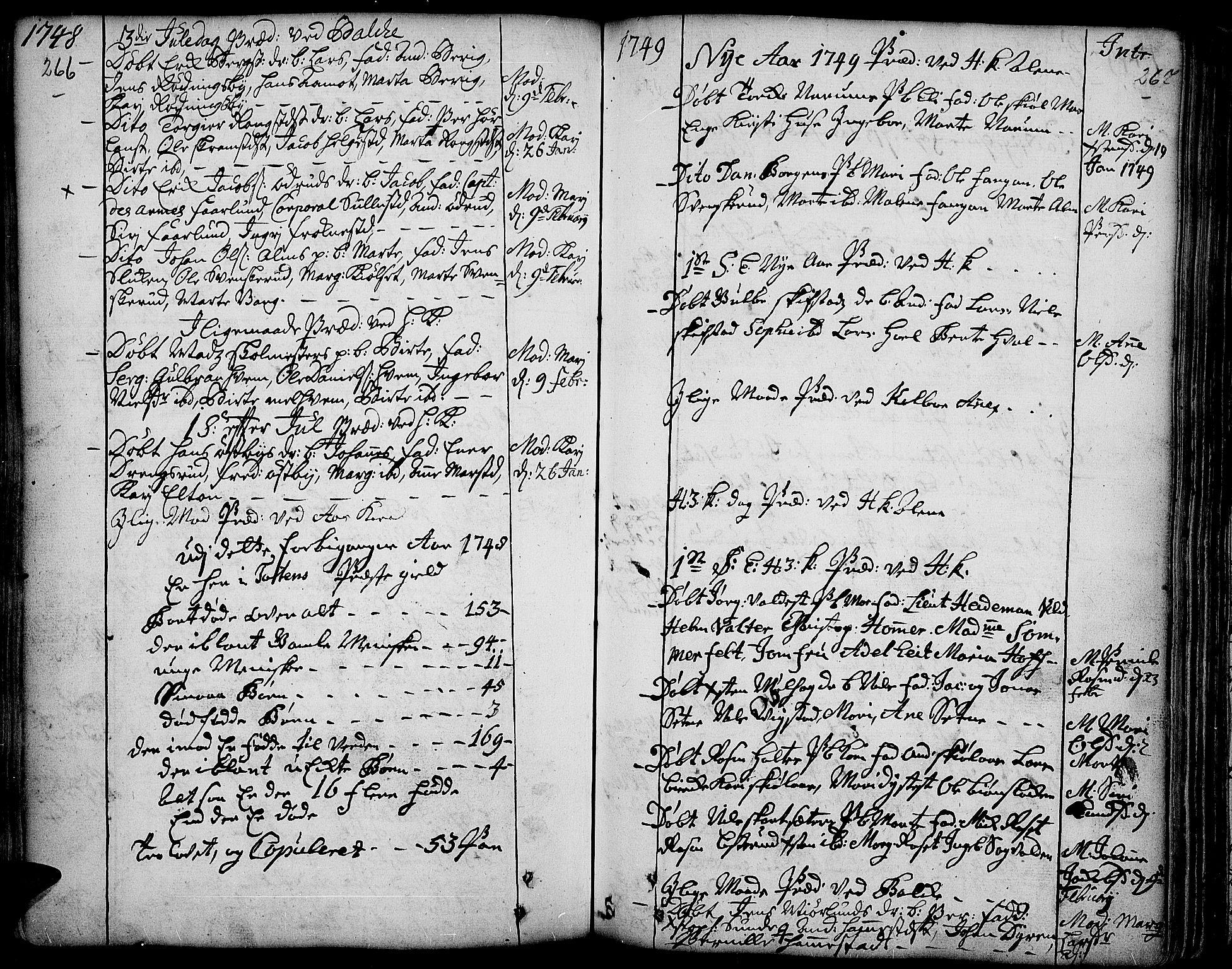 SAH, Toten prestekontor, Ministerialbok nr. 3, 1734-1751, s. 266-267
