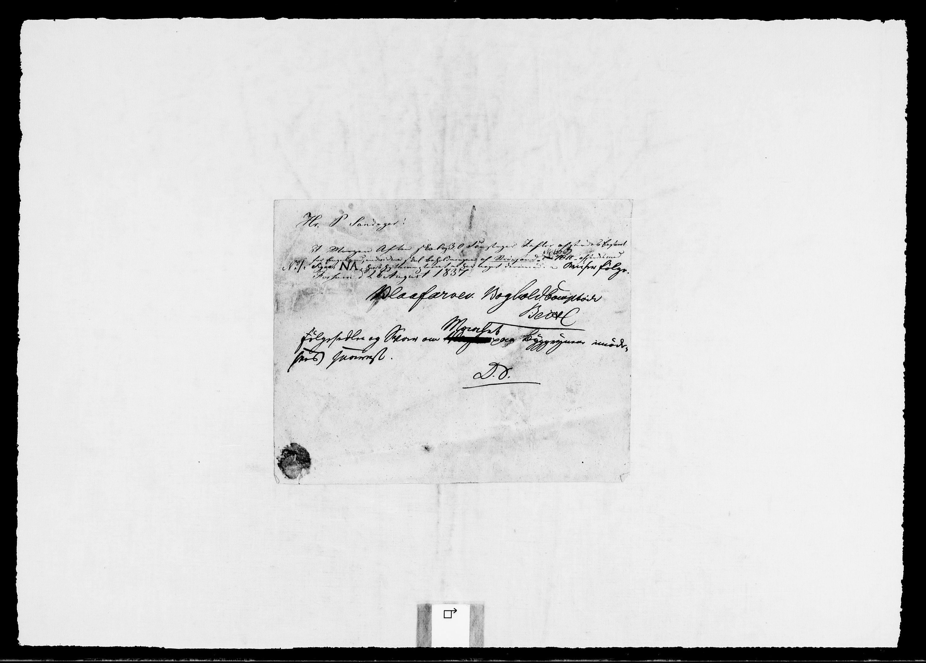 RA, Modums Blaafarveværk, G/Gb/L0141, 1836-1839, s. 3
