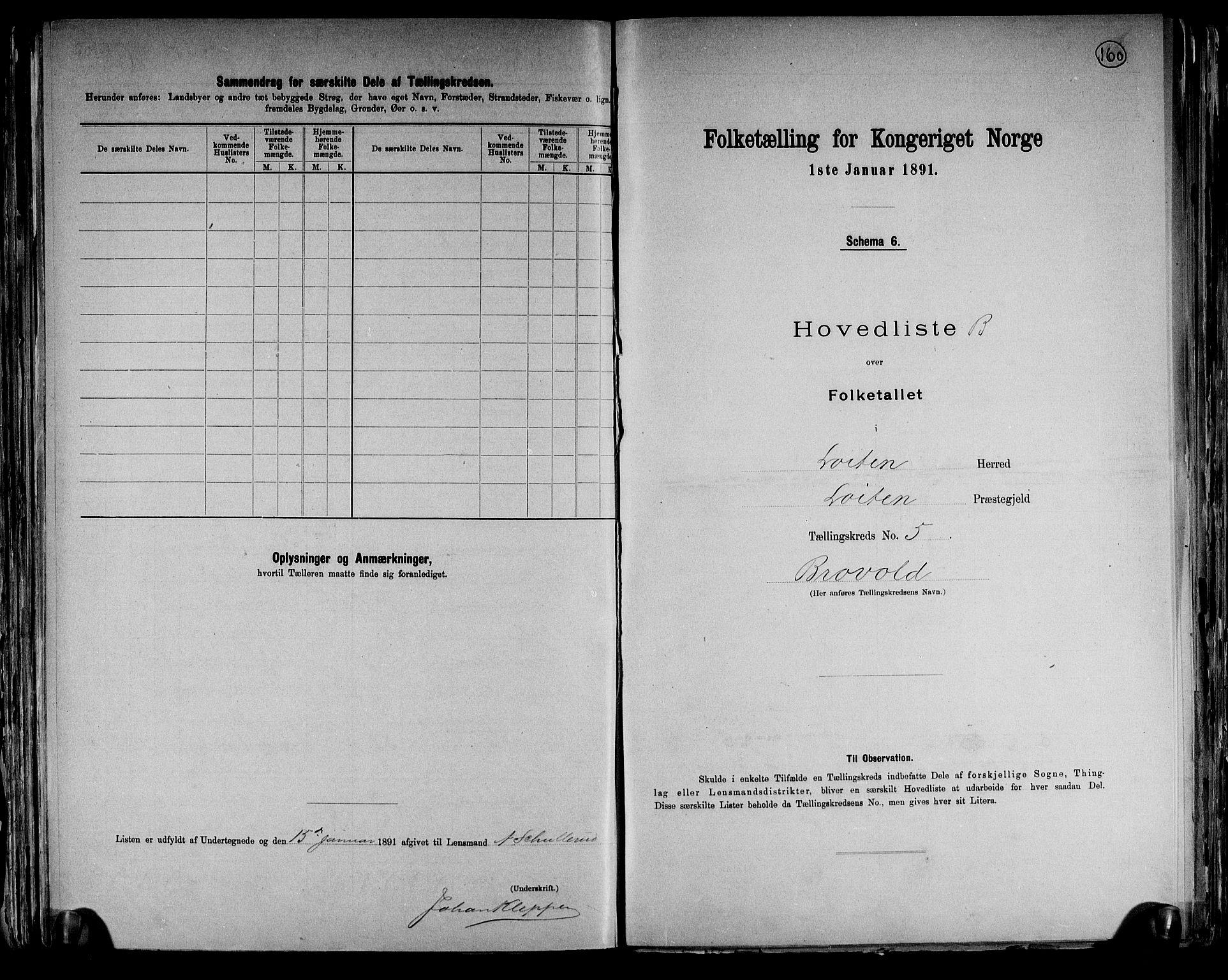 RA, Folketelling 1891 for 0415 Løten herred, 1891, s. 25