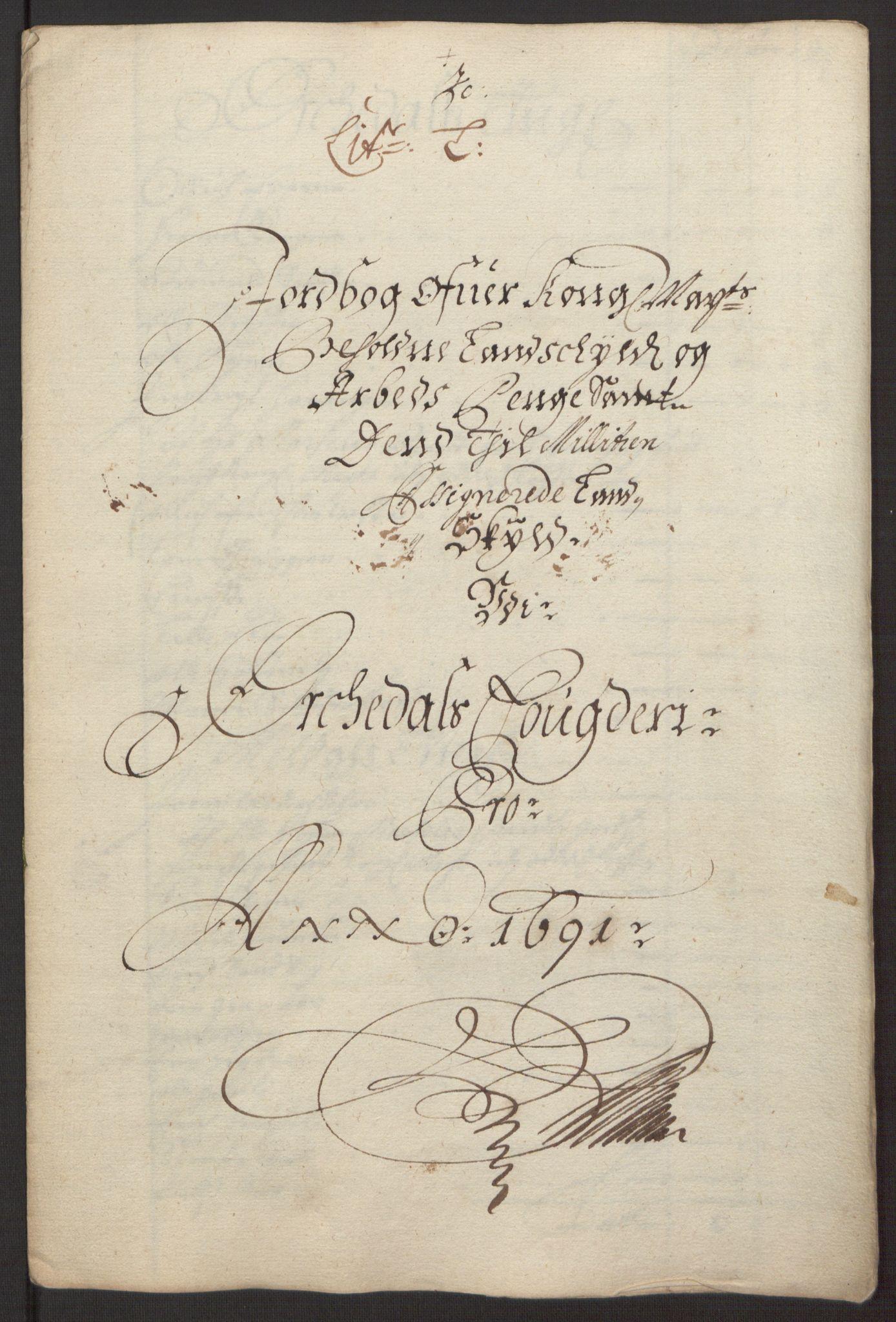 RA, Rentekammeret inntil 1814, Reviderte regnskaper, Fogderegnskap, R58/L3937: Fogderegnskap Orkdal, 1691-1692, s. 108
