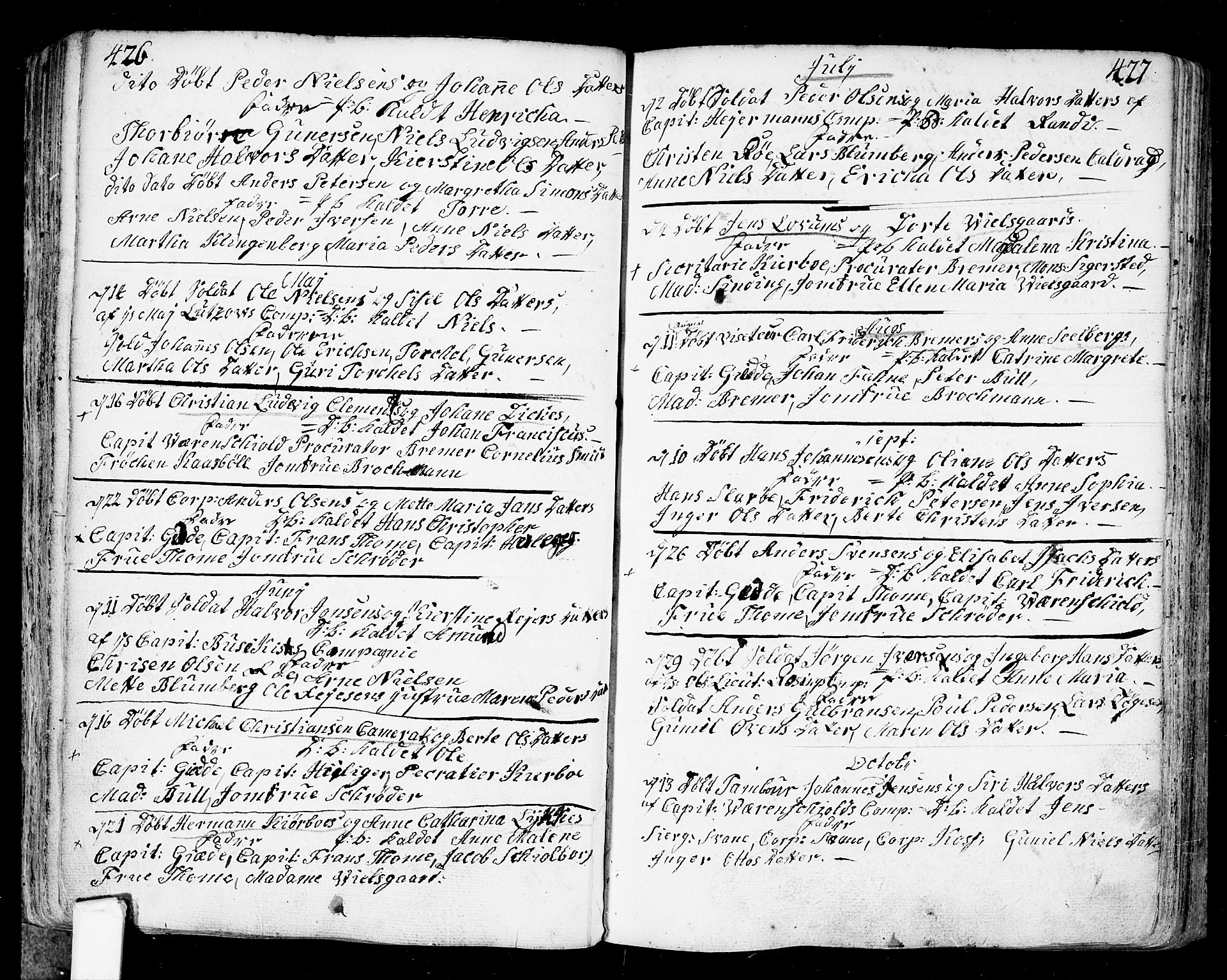 SAO, Fredrikstad prestekontor Kirkebøker, F/Fa/L0002: Ministerialbok nr. 2, 1750-1804, s. 426-427