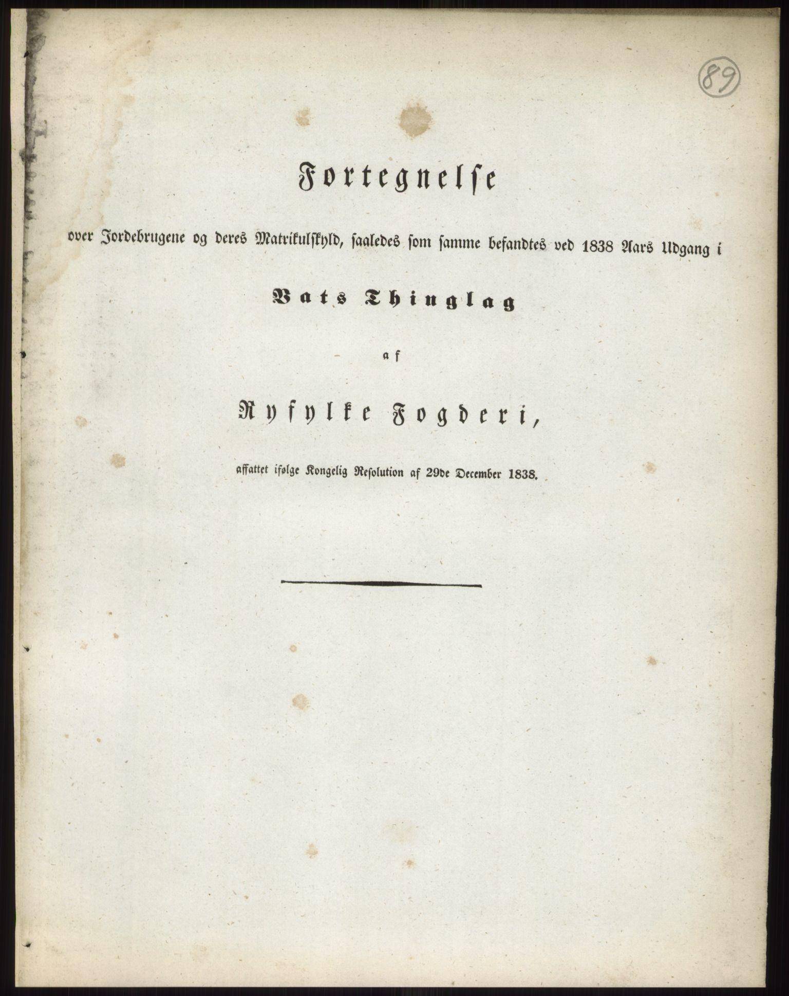 RA, 1838-matrikkelen (publikasjon)*, 1838, s. 89