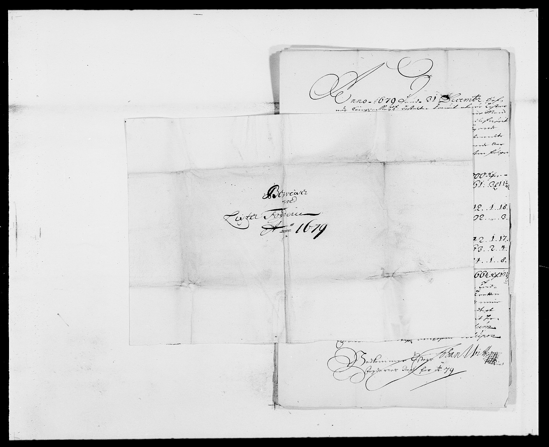 RA, Rentekammeret inntil 1814, Reviderte regnskaper, Fogderegnskap, R41/L2530: Fogderegnskap Lista, 1677-1679, s. 367
