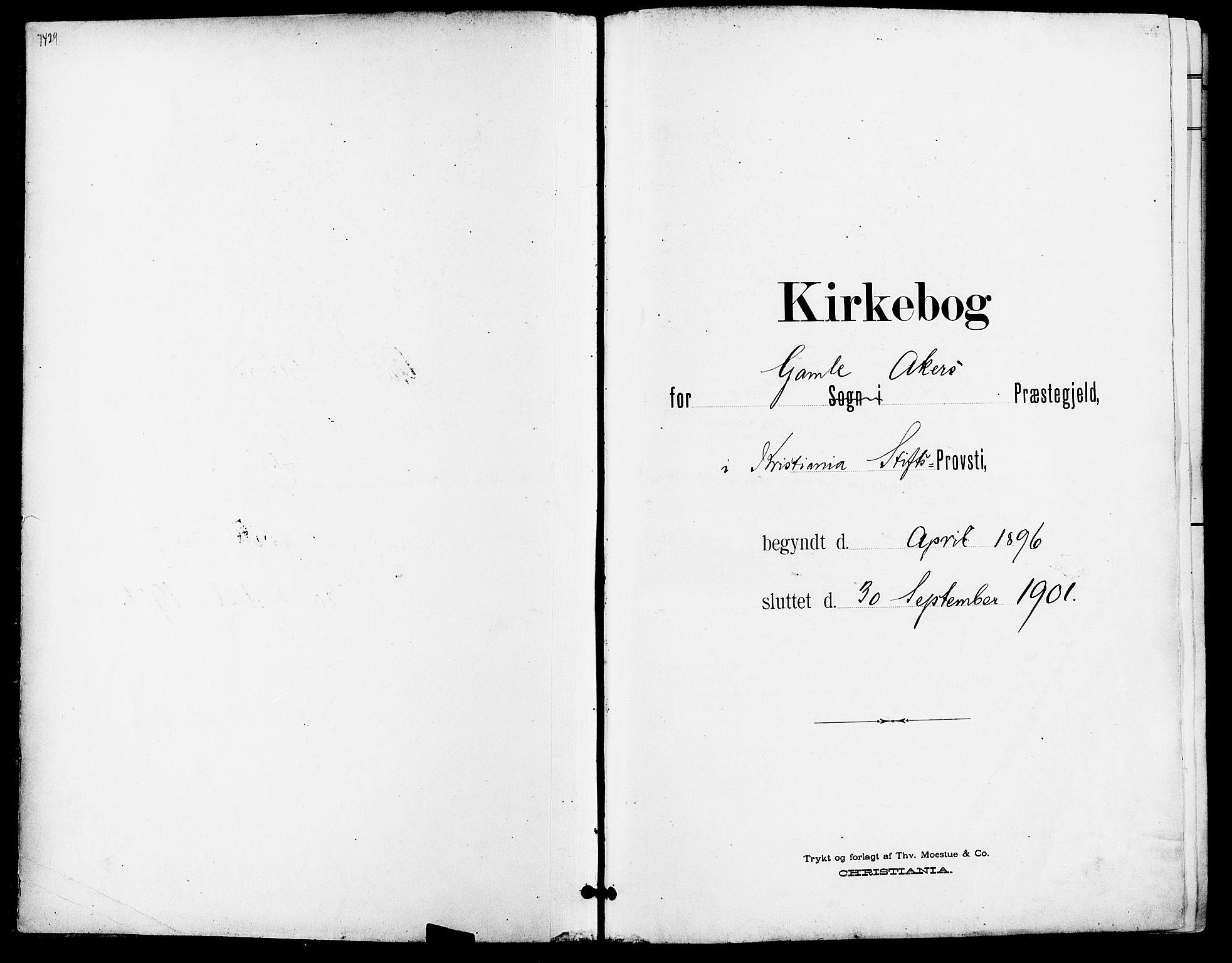 SAO, Gamle Aker prestekontor Kirkebøker, F/L0011: Ministerialbok nr. 11, 1896-1901