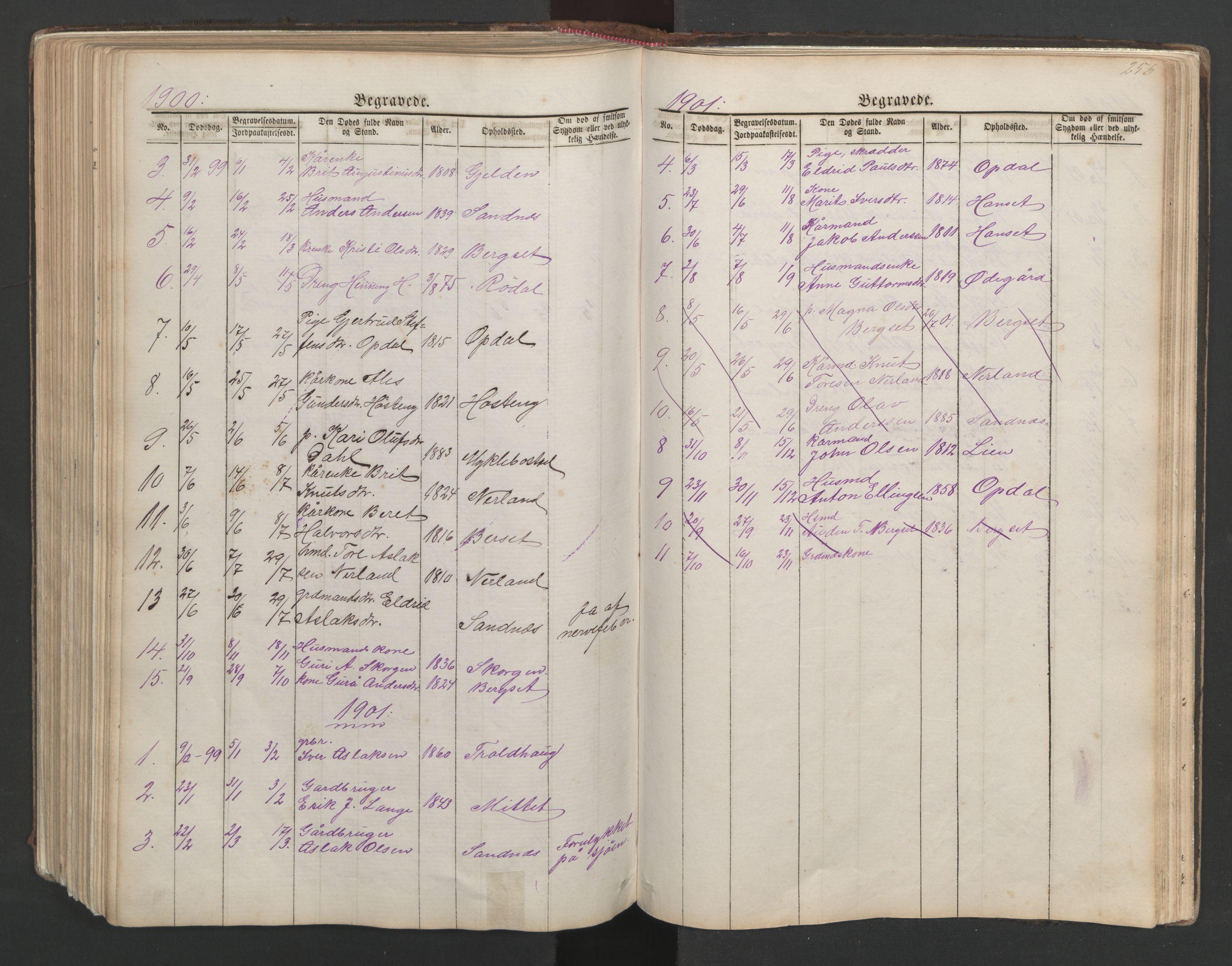 SAT, Ministerialprotokoller, klokkerbøker og fødselsregistre - Møre og Romsdal, 554/L0645: Klokkerbok nr. 554C02, 1867-1946, s. 256