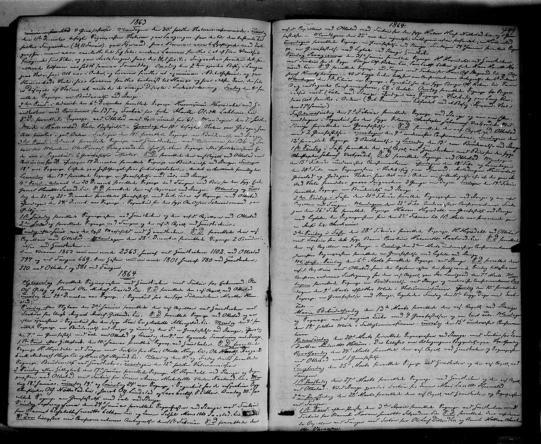 SAH, Stange prestekontor, K/L0013: Ministerialbok nr. 13, 1862-1879, s. 499