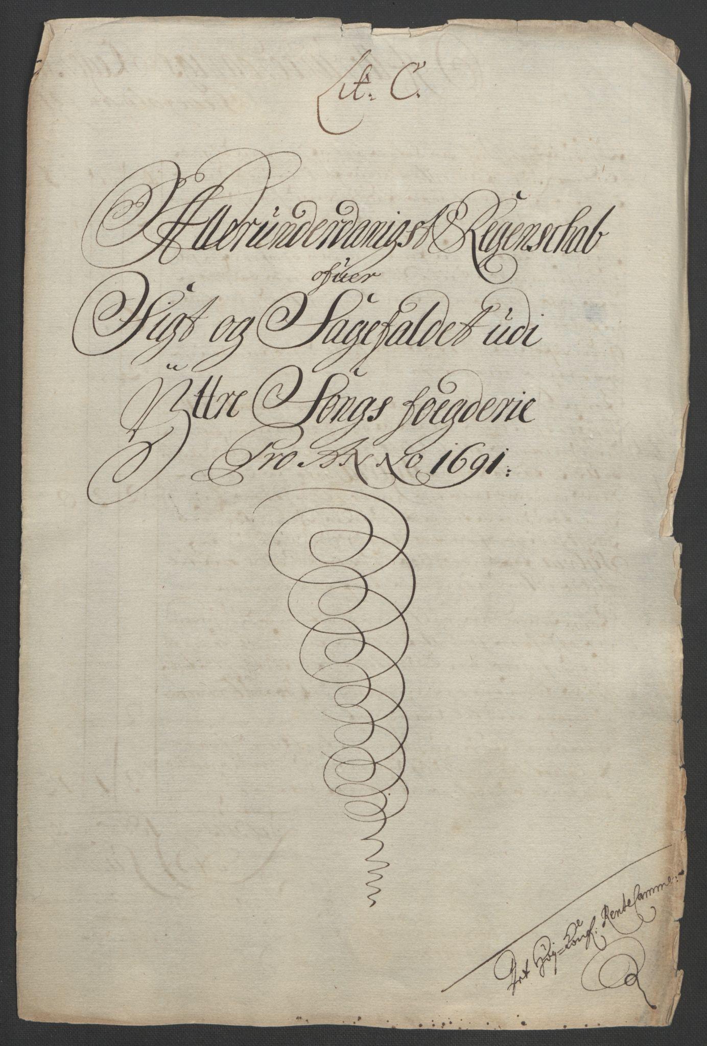 RA, Rentekammeret inntil 1814, Reviderte regnskaper, Fogderegnskap, R52/L3306: Fogderegnskap Sogn, 1691-1692, s. 92