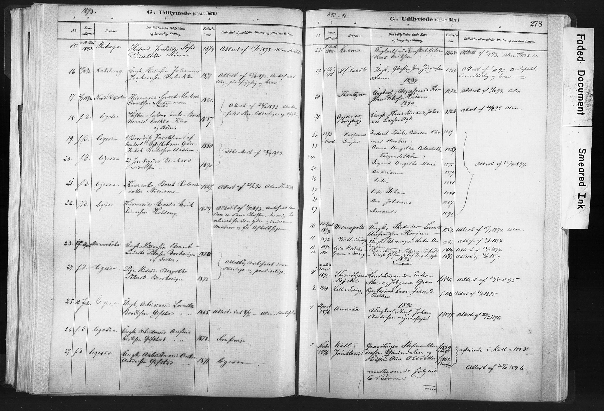 SAT, Ministerialprotokoller, klokkerbøker og fødselsregistre - Nord-Trøndelag, 749/L0474: Ministerialbok nr. 749A08, 1887-1903, s. 278