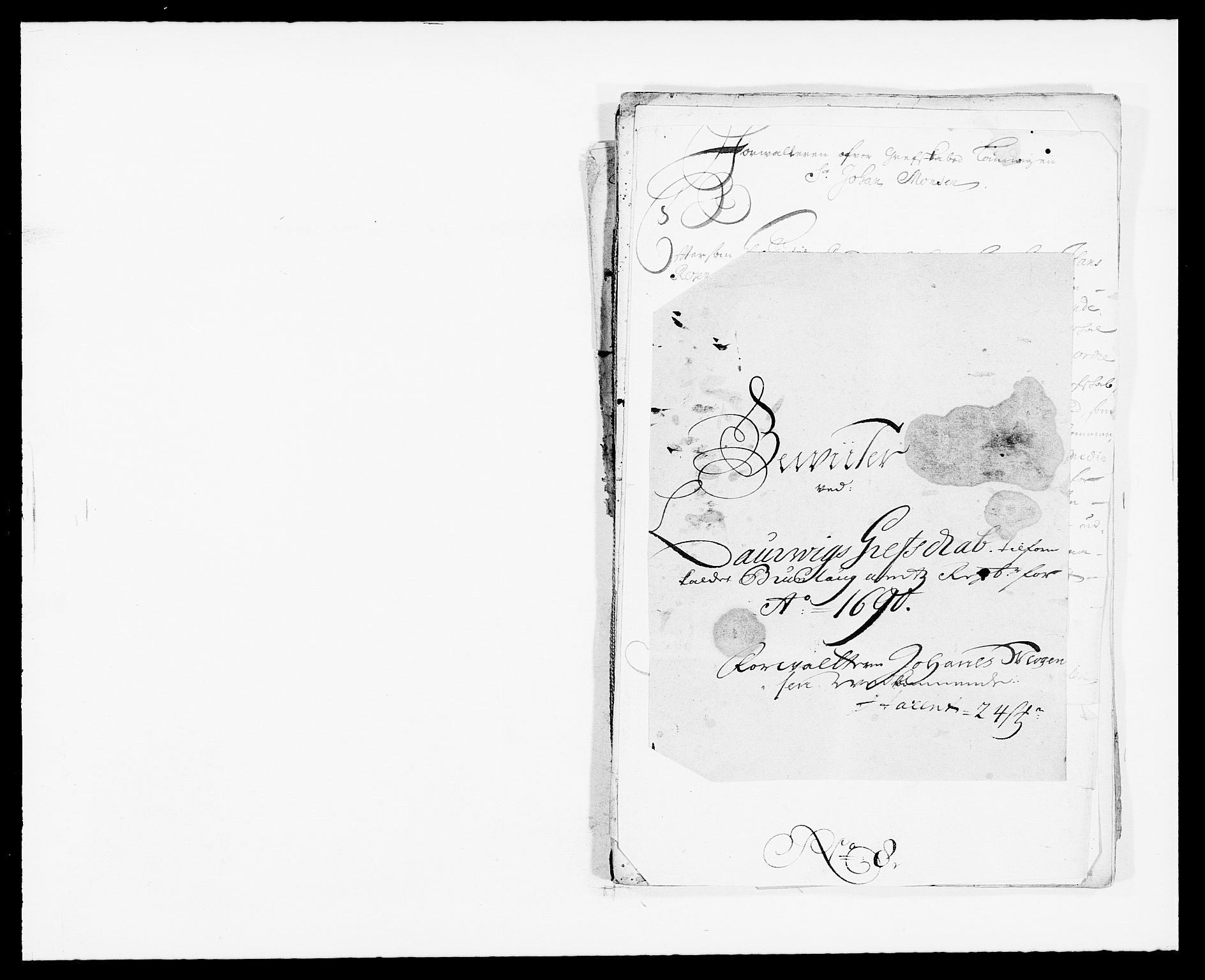 RA, Rentekammeret inntil 1814, Reviderte regnskaper, Fogderegnskap, R33/L1972: Fogderegnskap Larvik grevskap, 1690-1691, s. 212