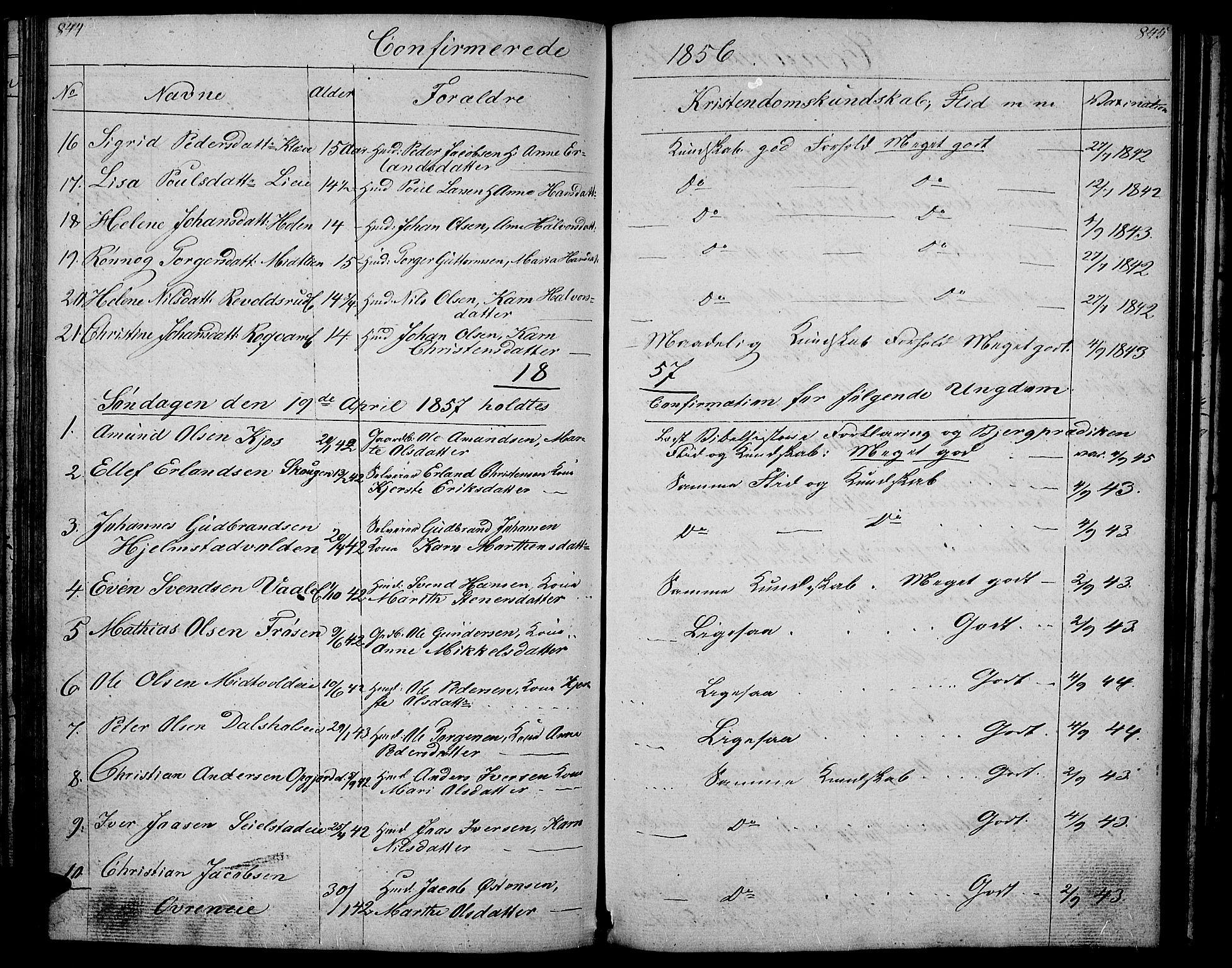 SAH, Gausdal prestekontor, Klokkerbok nr. 4, 1835-1870, s. 844-845