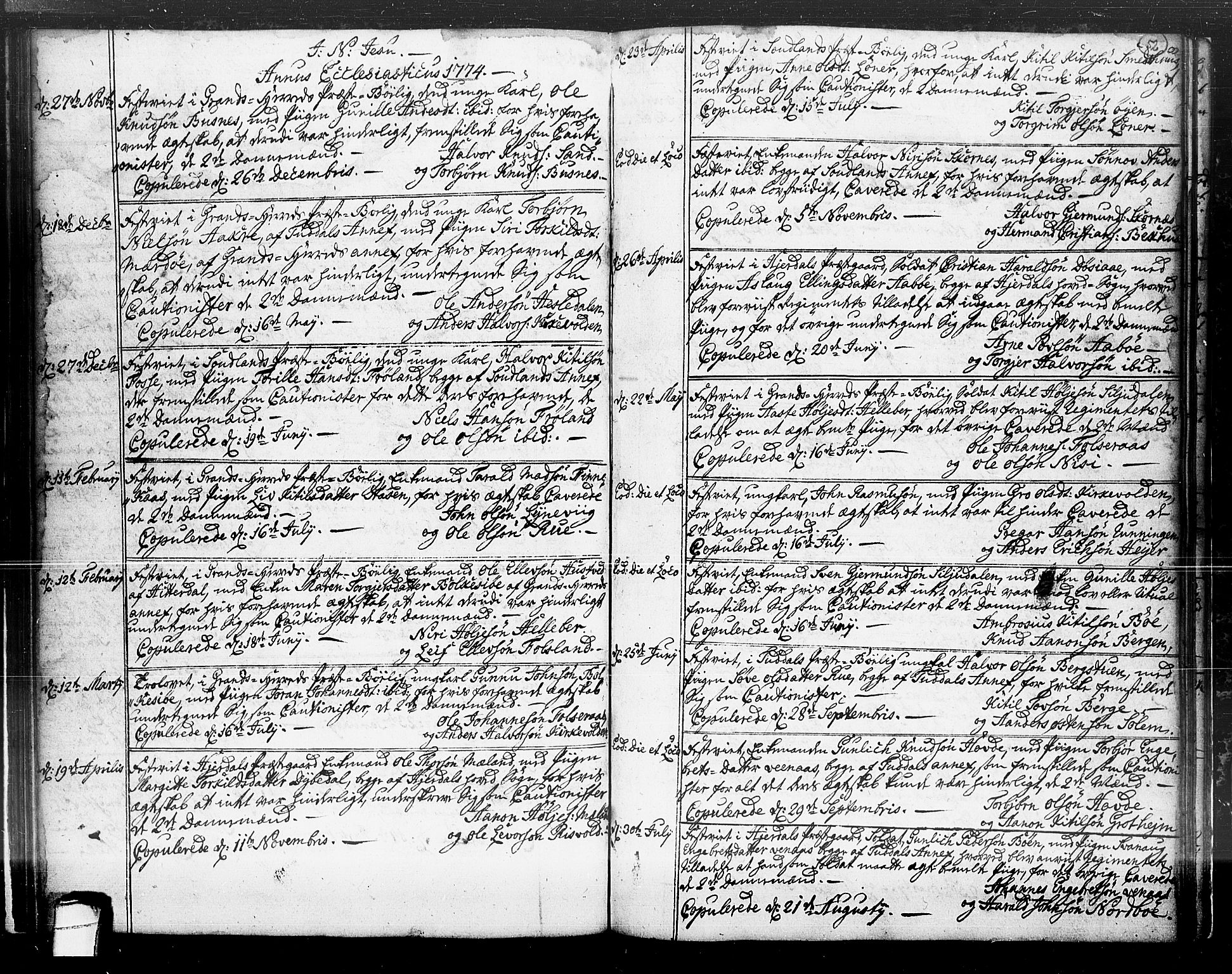 SAKO, Hjartdal kirkebøker, F/Fa/L0004: Ministerialbok nr. I 4, 1727-1795, s. 52