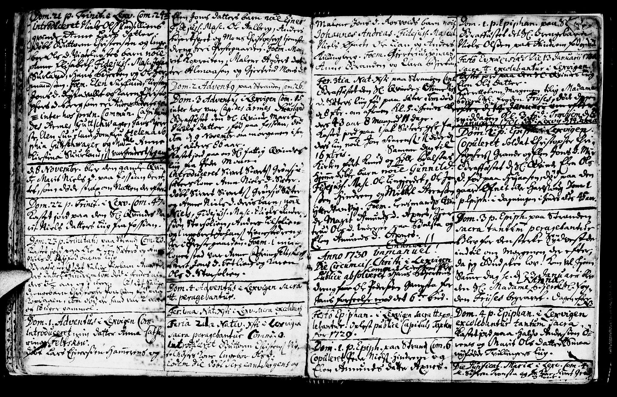 SAT, Ministerialprotokoller, klokkerbøker og fødselsregistre - Nord-Trøndelag, 701/L0001: Ministerialbok nr. 701A01, 1717-1731, s. 49