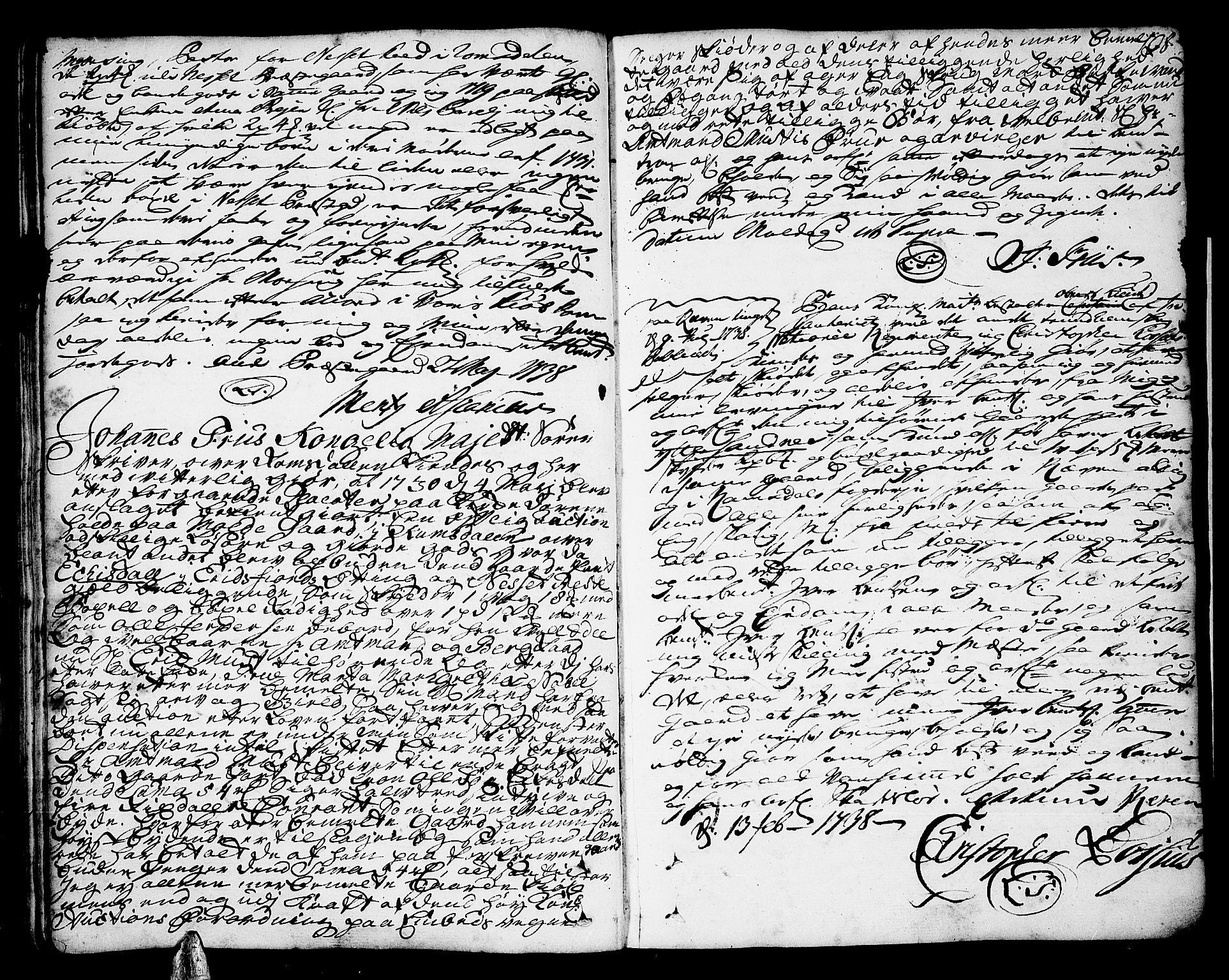 SAT, Romsdal sorenskriveri, 2/2C/L0002: Pantebok nr. 2, 1731-1745, s. 108
