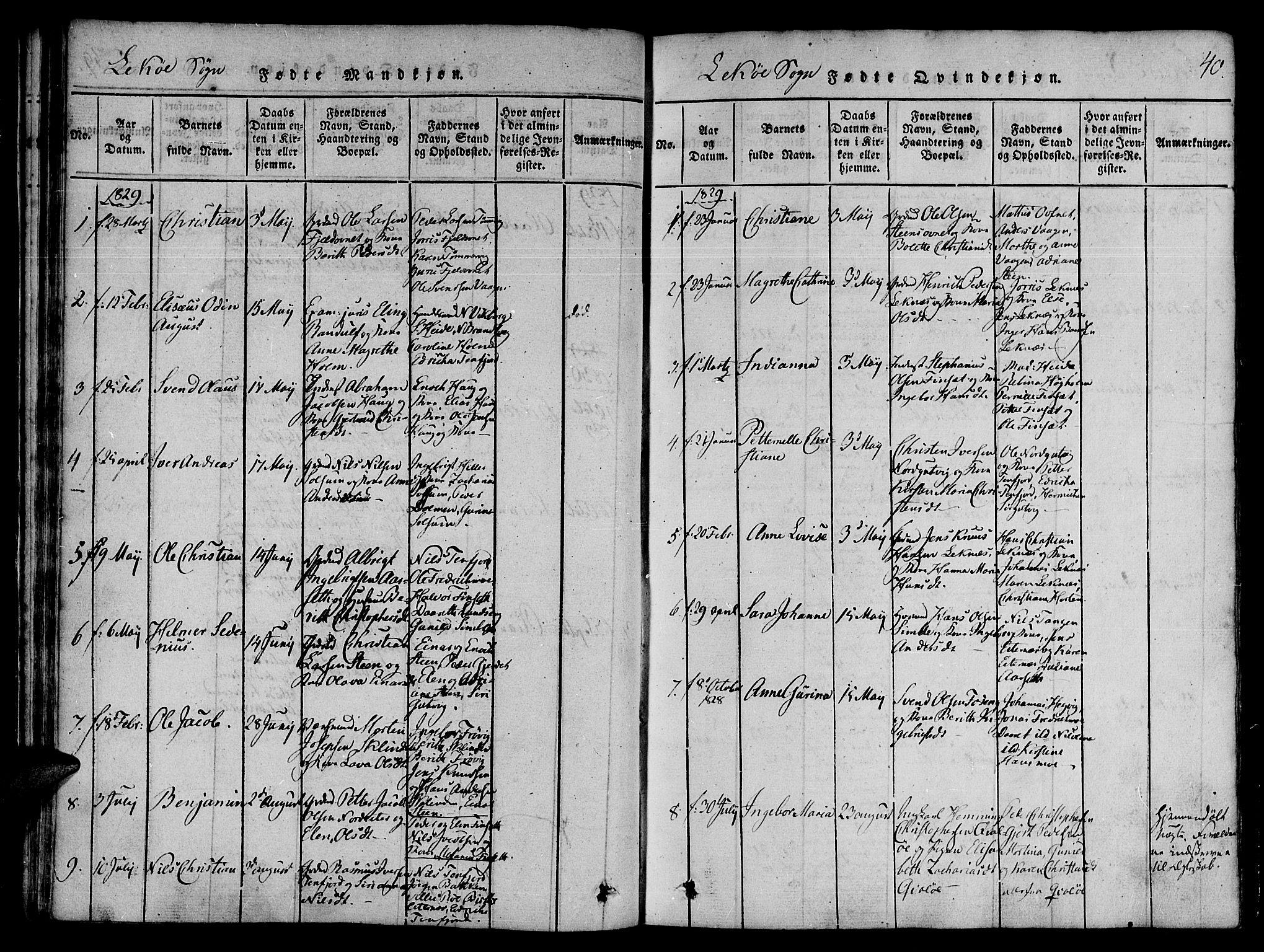 SAT, Ministerialprotokoller, klokkerbøker og fødselsregistre - Nord-Trøndelag, 780/L0636: Ministerialbok nr. 780A03 /2, 1815-1829, s. 40