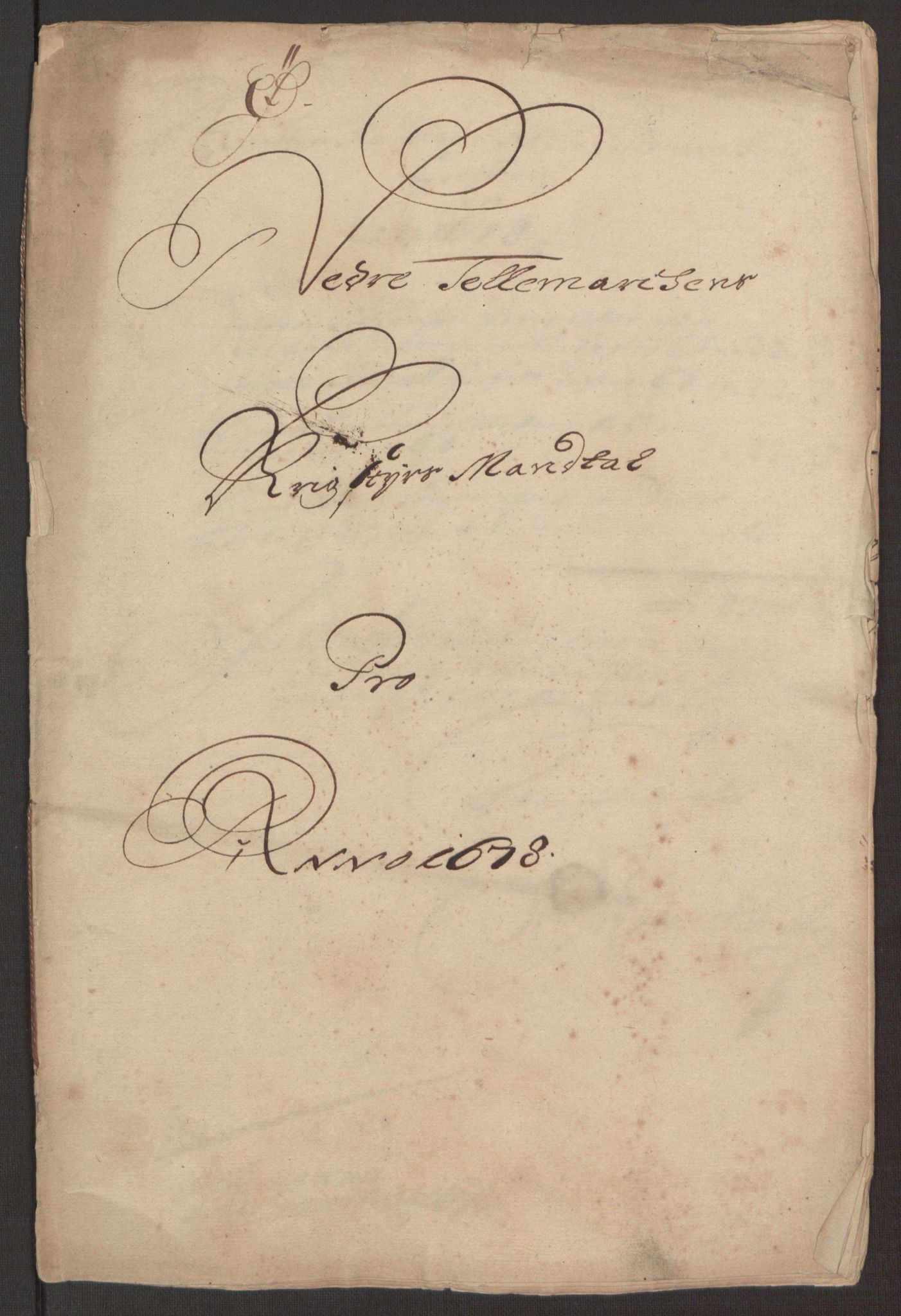 RA, Rentekammeret inntil 1814, Reviderte regnskaper, Fogderegnskap, R35/L2069: Fogderegnskap Øvre og Nedre Telemark, 1678, s. 229