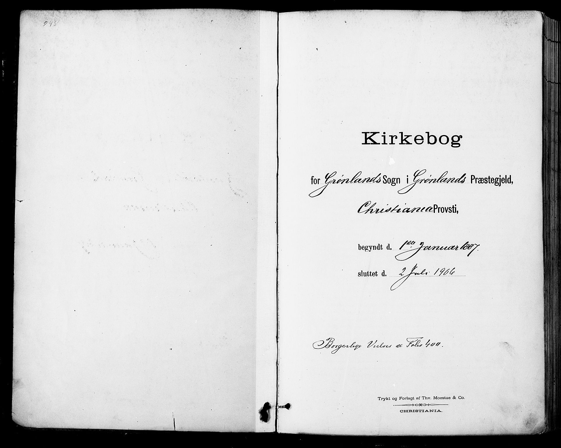 SAO, Grønland prestekontor Kirkebøker, F/Fa/L0013: Ministerialbok nr. 13, 1887-1906