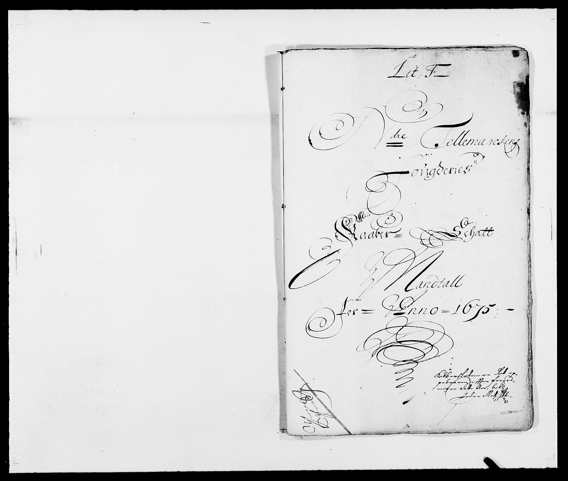 RA, Rentekammeret inntil 1814, Reviderte regnskaper, Fogderegnskap, R35/L2063: Fogderegnskap Øvre og Nedre Telemark, 1675, s. 132