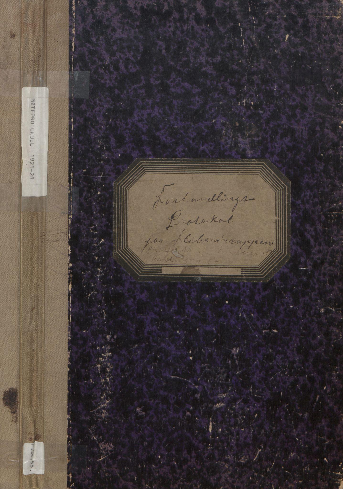 AAT, Solum arbeiderparti, A/L0001: Møtebok, 1921-1928