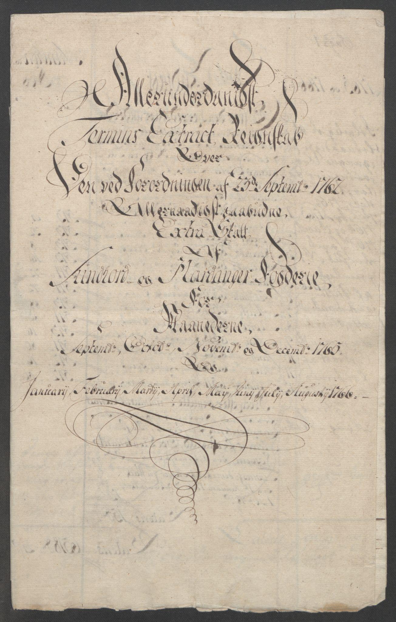RA, Rentekammeret inntil 1814, Reviderte regnskaper, Fogderegnskap, R48/L3136: Ekstraskatten Sunnhordland og Hardanger, 1762-1772, s. 129