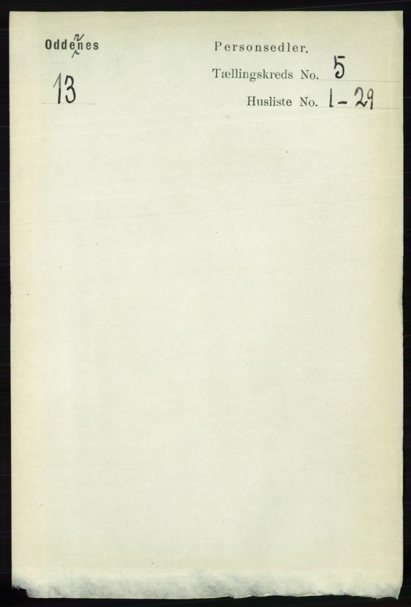 RA, Folketelling 1891 for 1012 Oddernes herred, 1891, s. 1767
