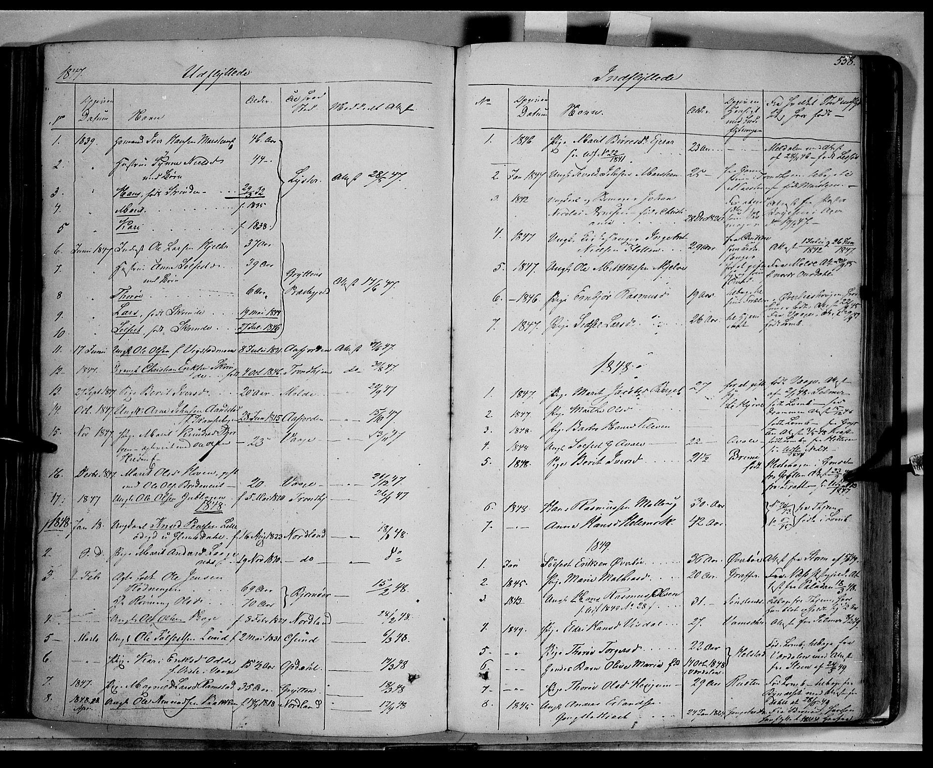 SAH, Lom prestekontor, K/L0006: Ministerialbok nr. 6B, 1837-1863, s. 558