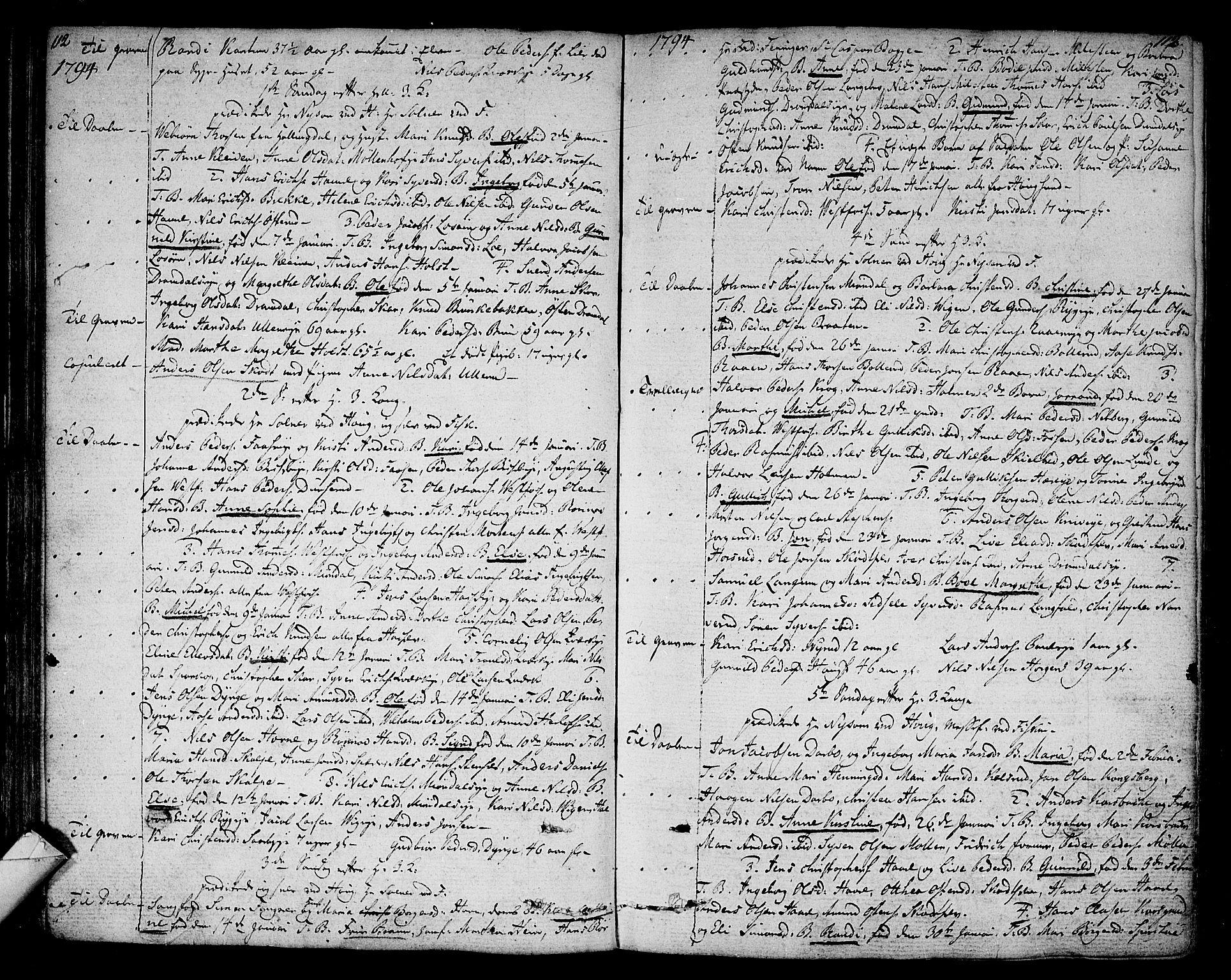 SAKO, Eiker kirkebøker, F/Fa/L0009: Ministerialbok nr. I 9, 1789-1806, s. 112-113
