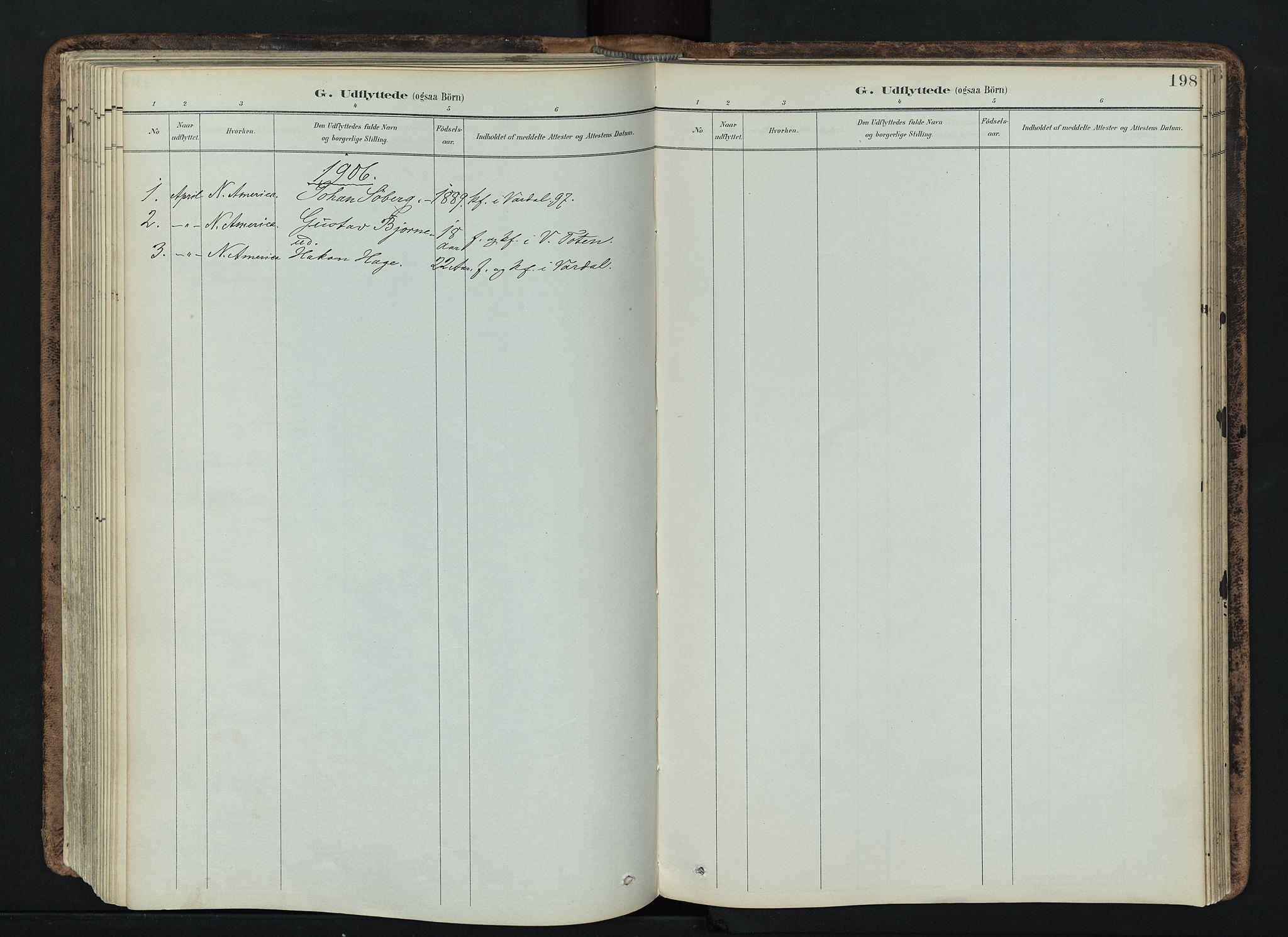 SAH, Vardal prestekontor, H/Ha/Haa/L0019: Ministerialbok nr. 19, 1893-1907, s. 198