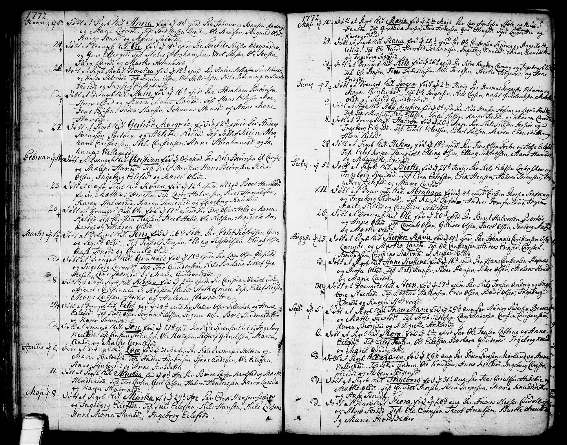 SAKO, Sannidal kirkebøker, F/Fa/L0002: Ministerialbok nr. 2, 1767-1802, s. 35