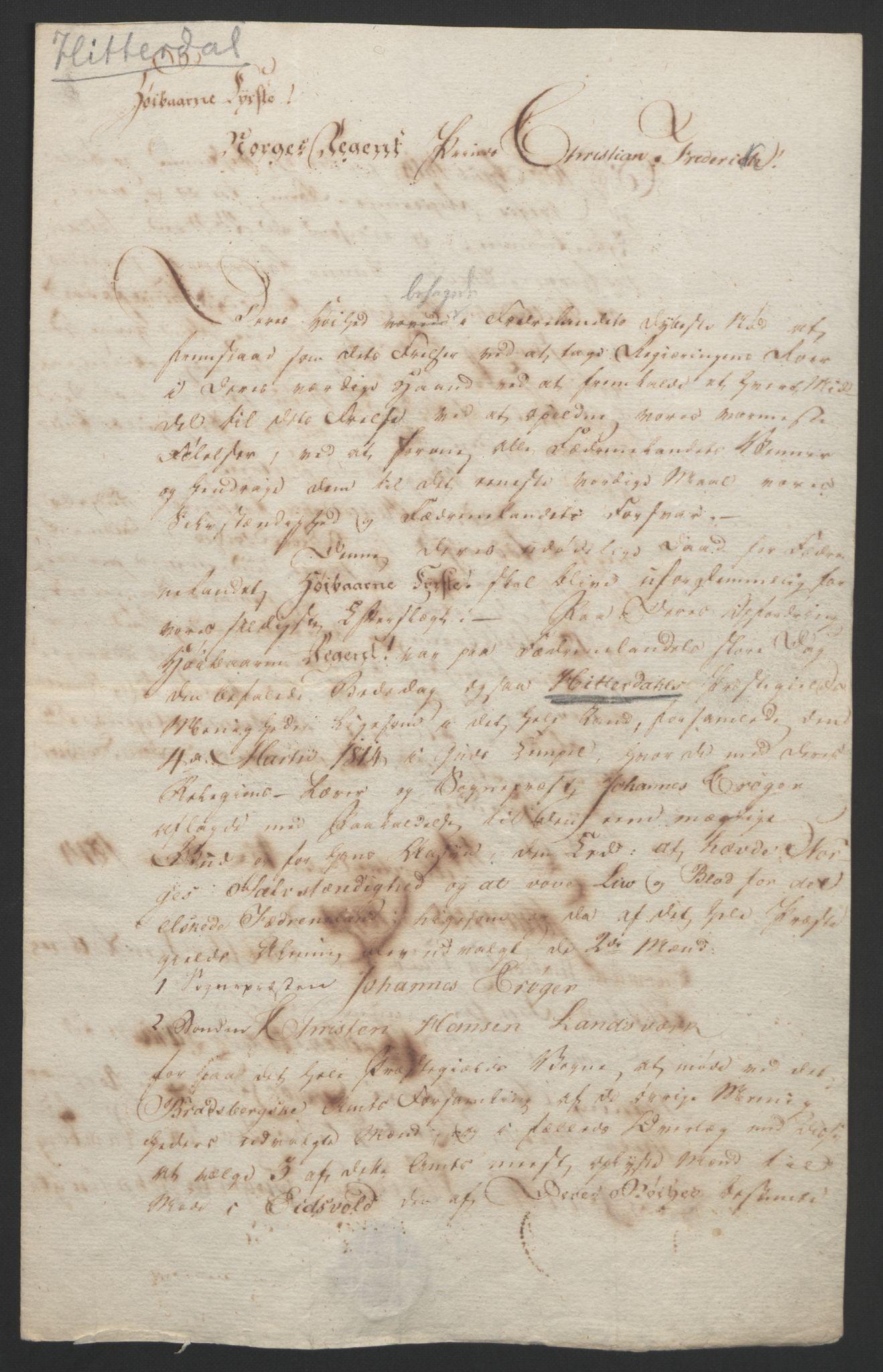 RA, Statsrådssekretariatet, D/Db/L0008: Fullmakter for Eidsvollsrepresentantene i 1814. , 1814, s. 48