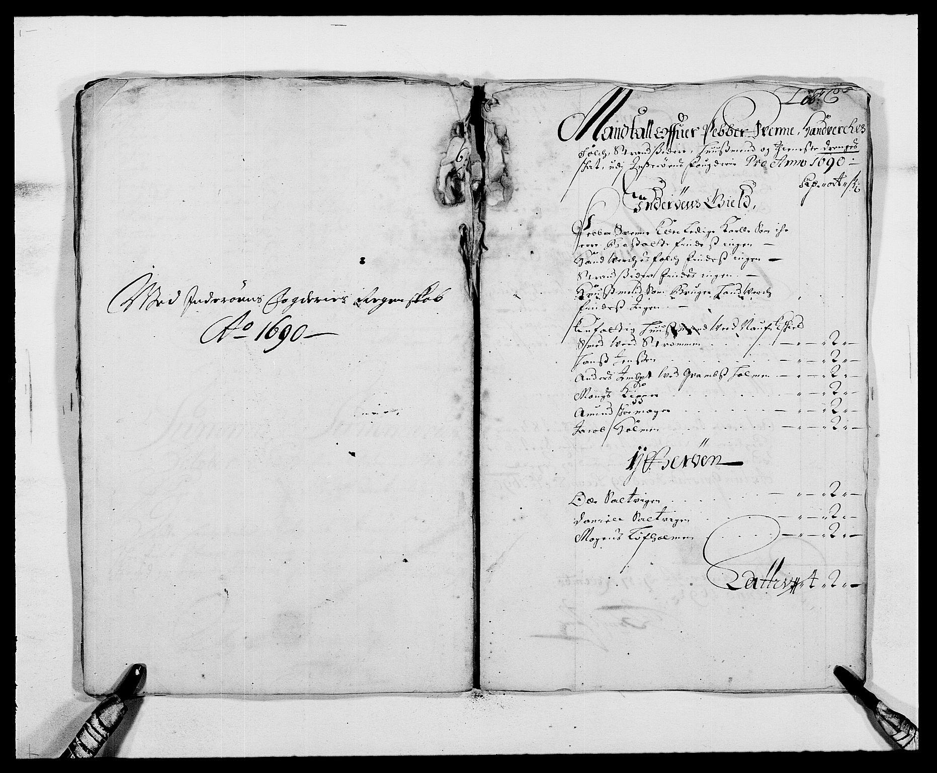 RA, Rentekammeret inntil 1814, Reviderte regnskaper, Fogderegnskap, R63/L4307: Fogderegnskap Inderøy, 1690-1691, s. 80